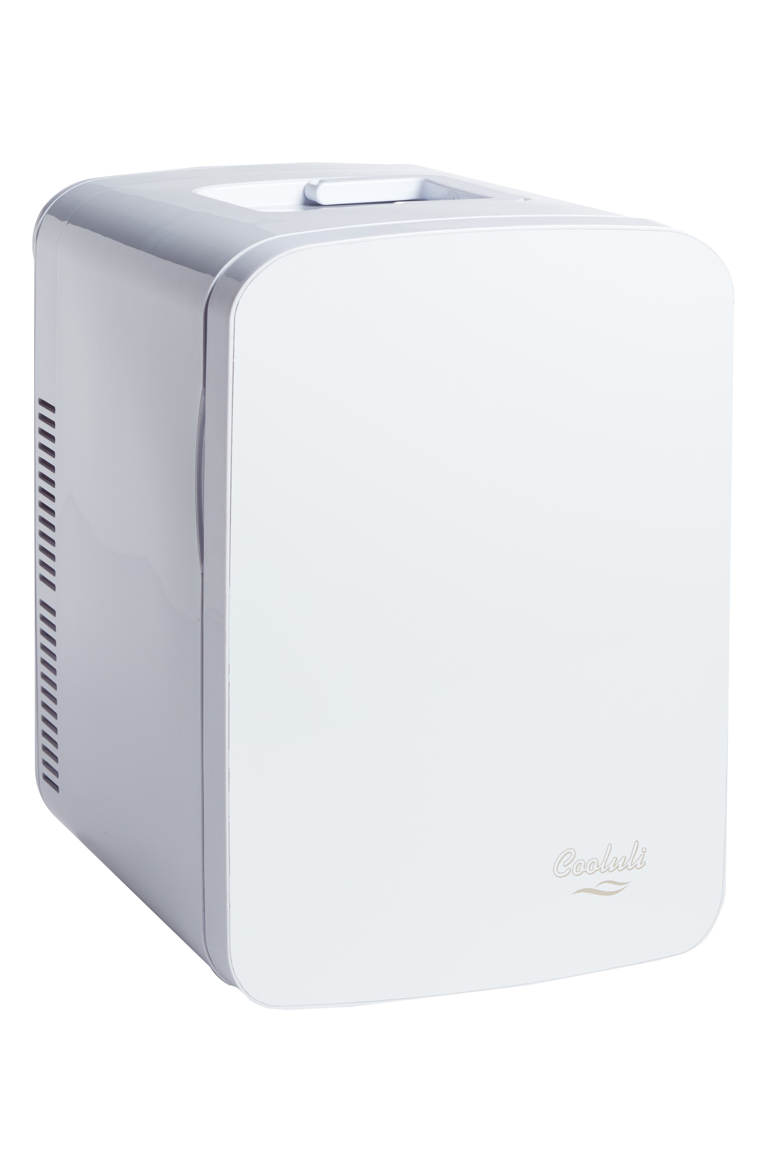 COOLULI, The Vibe Whiteboard 15L Thermoelectric Mini Beauty Fridge & Warmer, Alternate thumbnail 3, color, 100