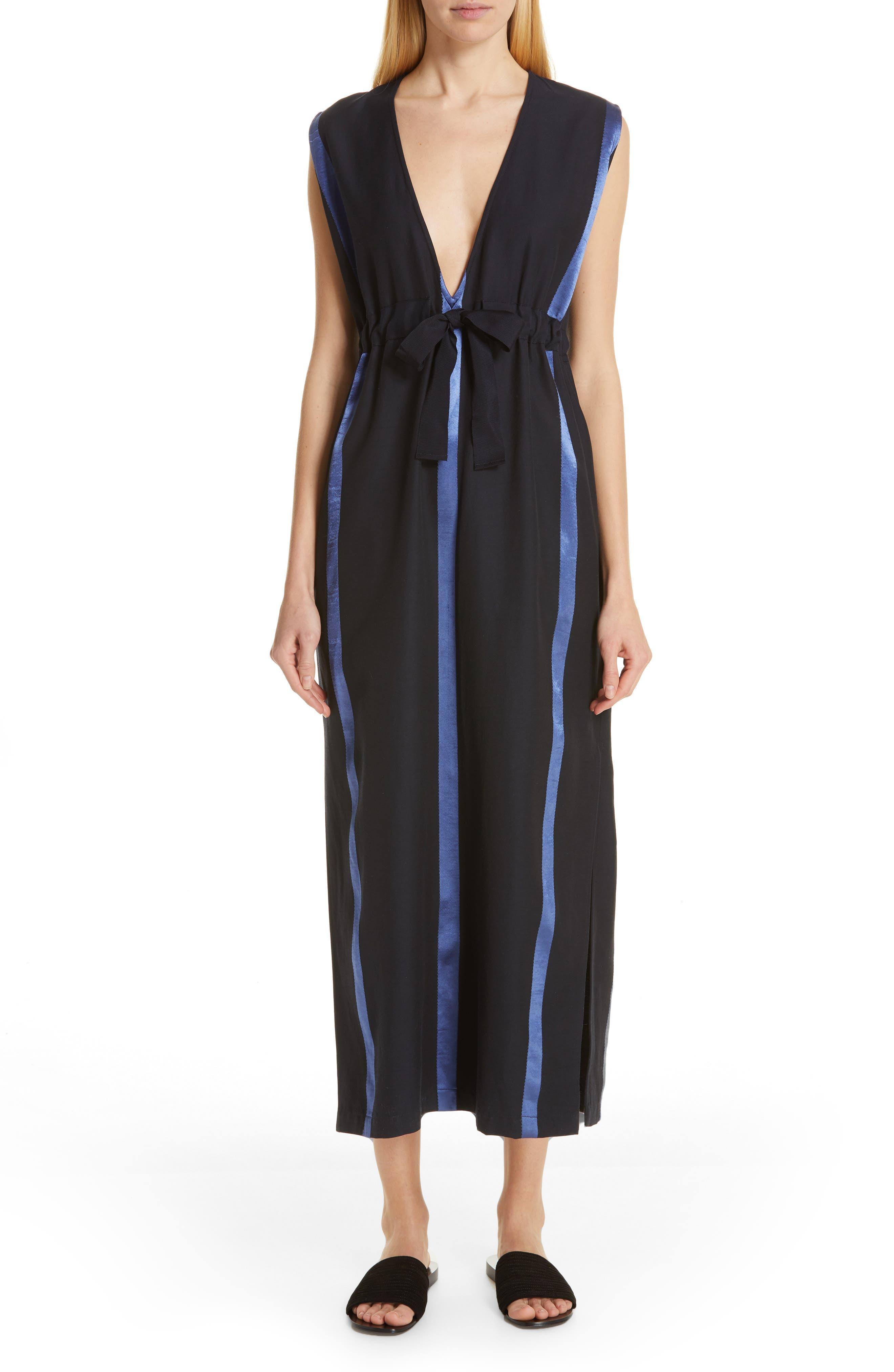 Zero + Maria Cornejo Lola Ruched Dress, Blue