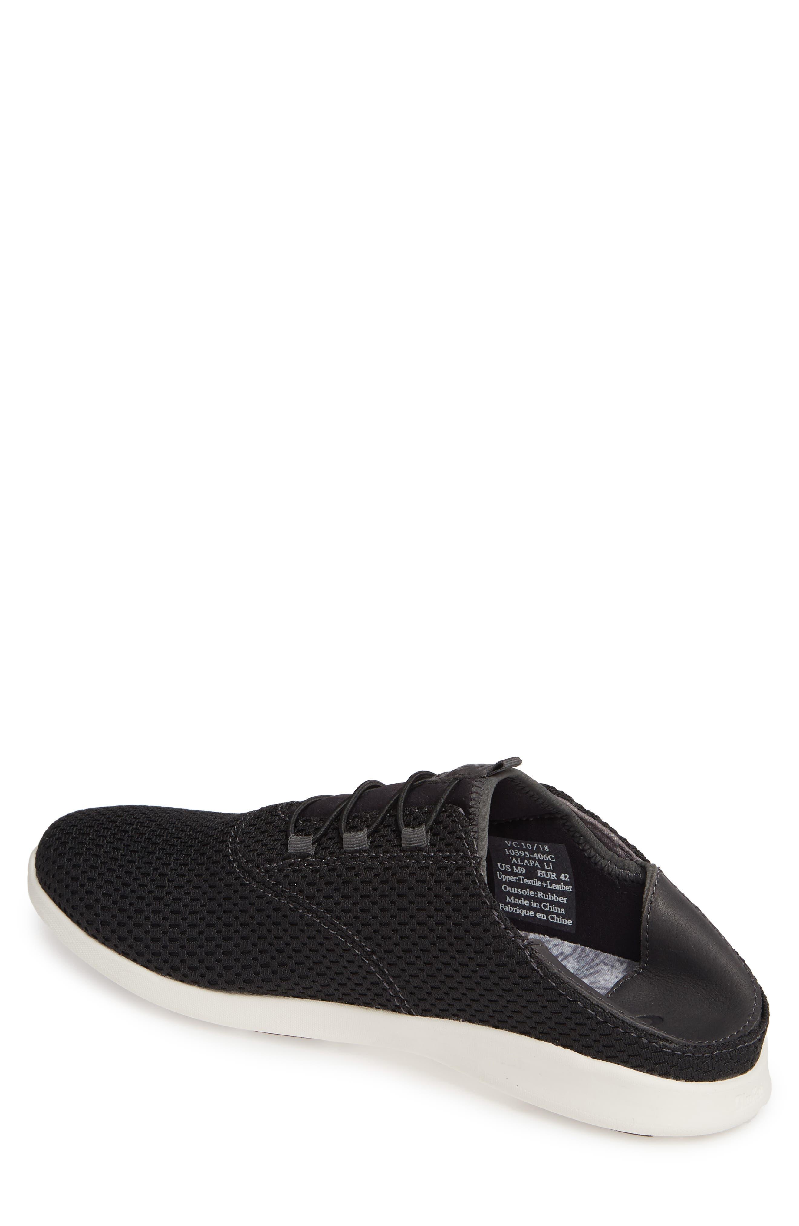 OLUKAI, Alapa Li Sneaker, Alternate thumbnail 3, color, BLACK/ DARK SHADOW MESH