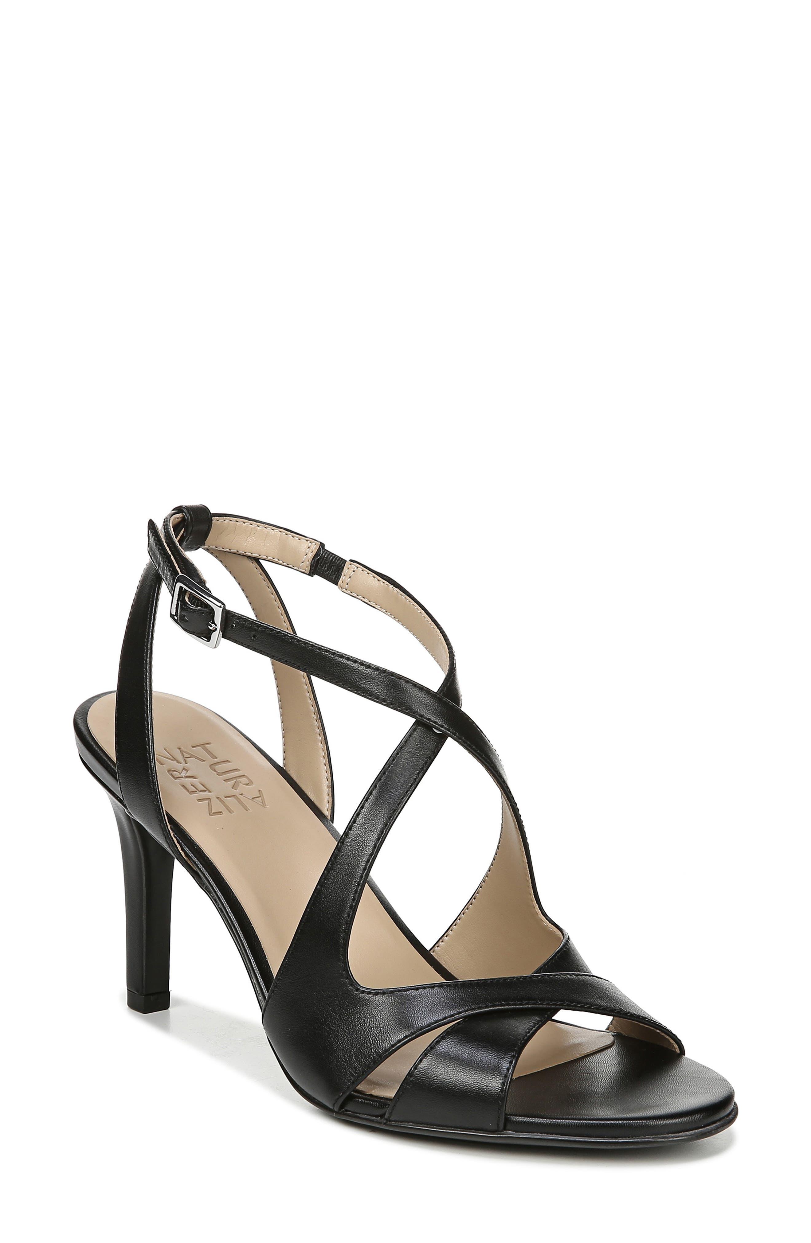 NATURALIZER Klein Strappy Sandal, Main, color, BLACK LEATHER