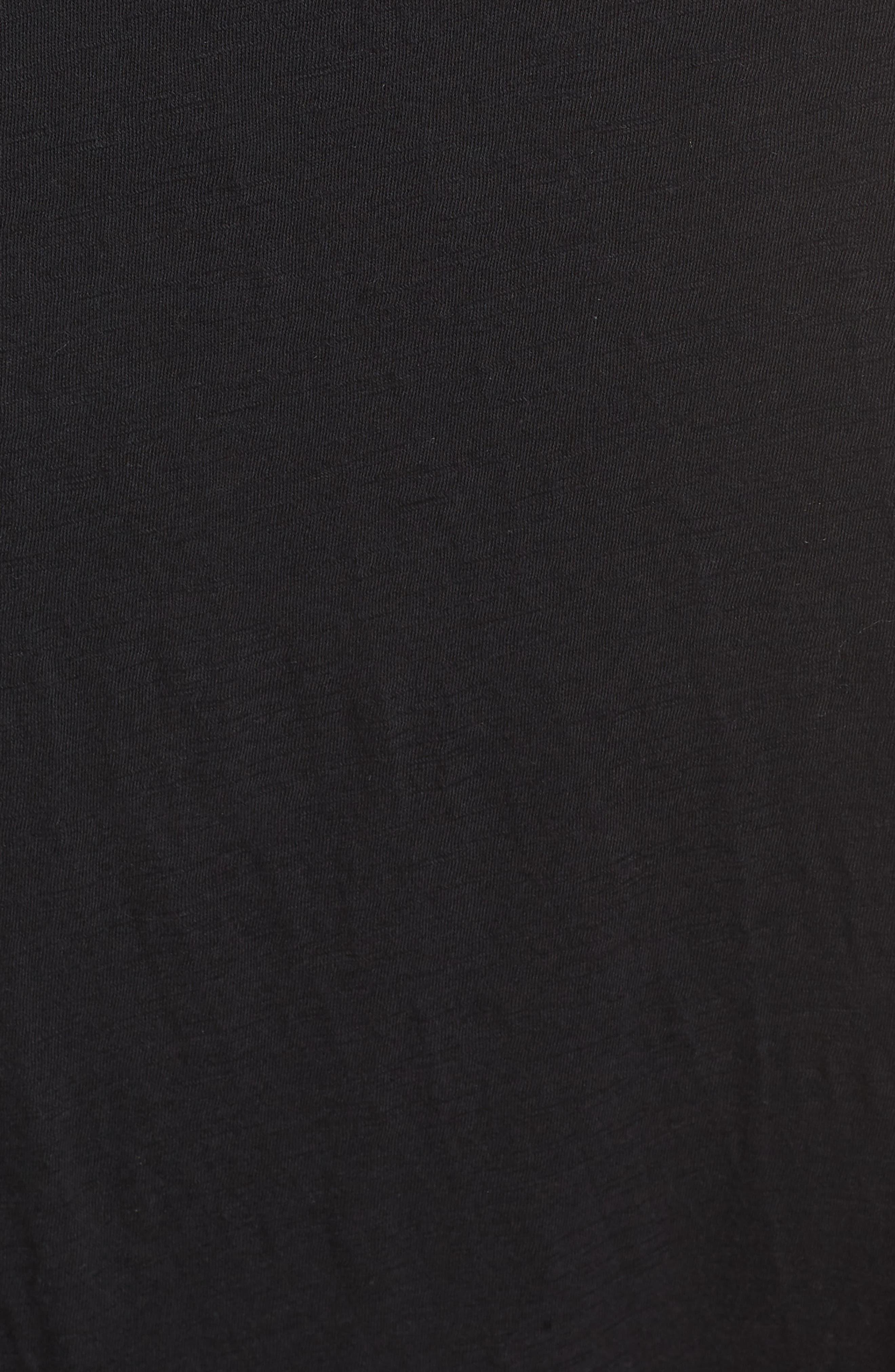 CASLON<SUP>®</SUP>, Twist Neck Maxi Dress, Alternate thumbnail 6, color, BLACK