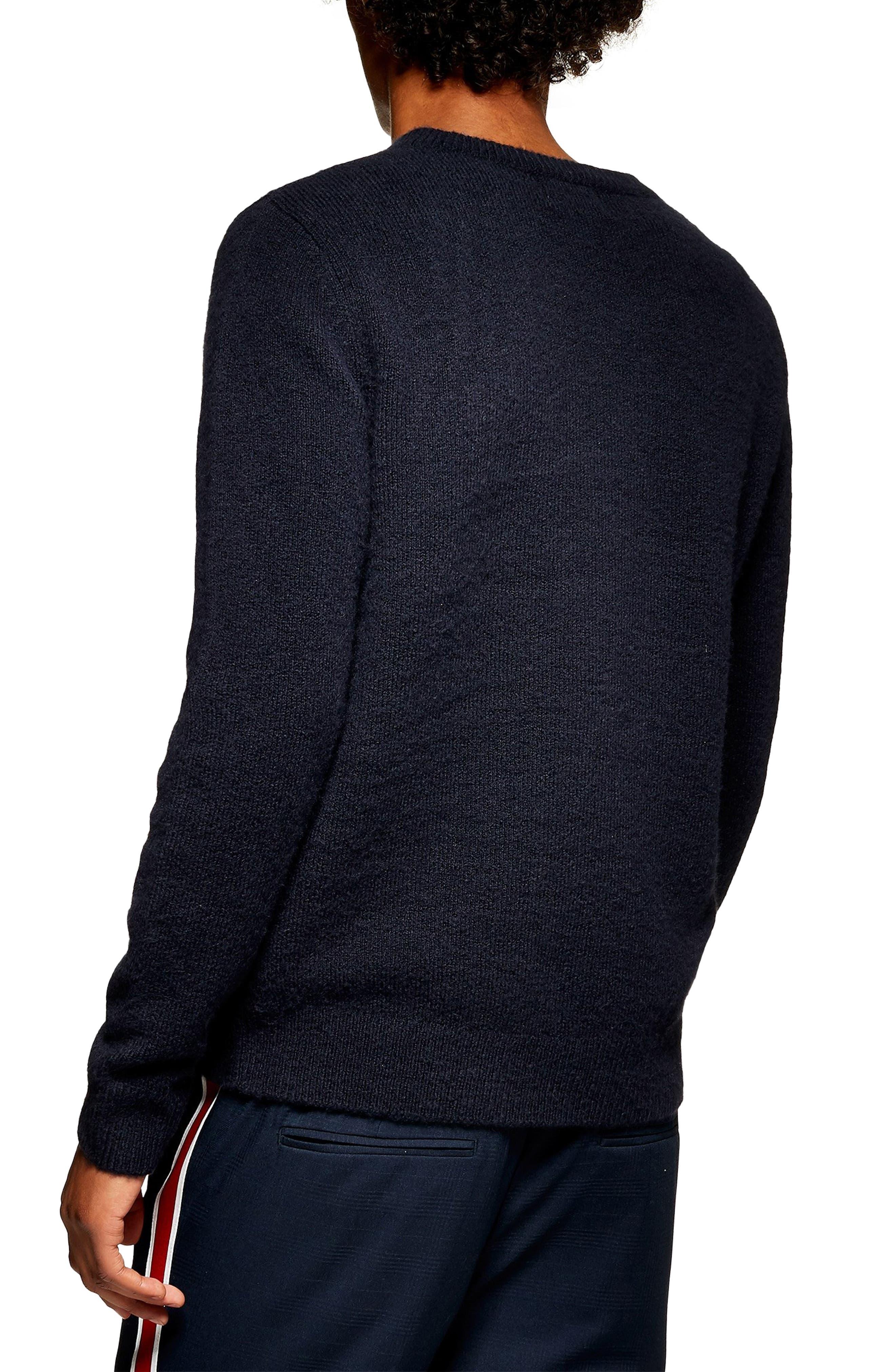 TOPMAN, V-Neck Sweater, Alternate thumbnail 2, color, 411