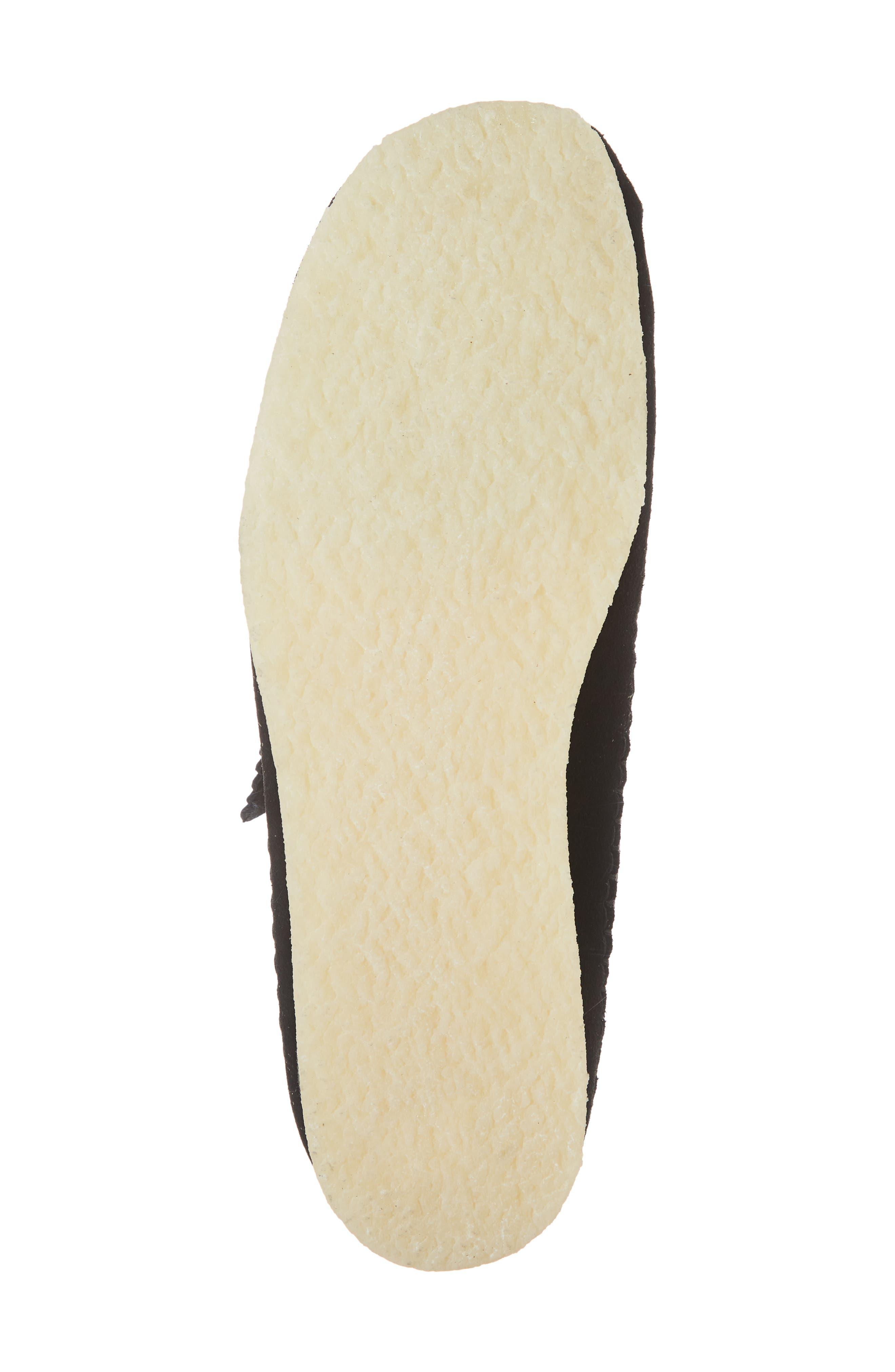 CLARKS<SUP>®</SUP>, 'Weaver' Moc Toe Derby, Alternate thumbnail 6, color, BLACK SUEDE