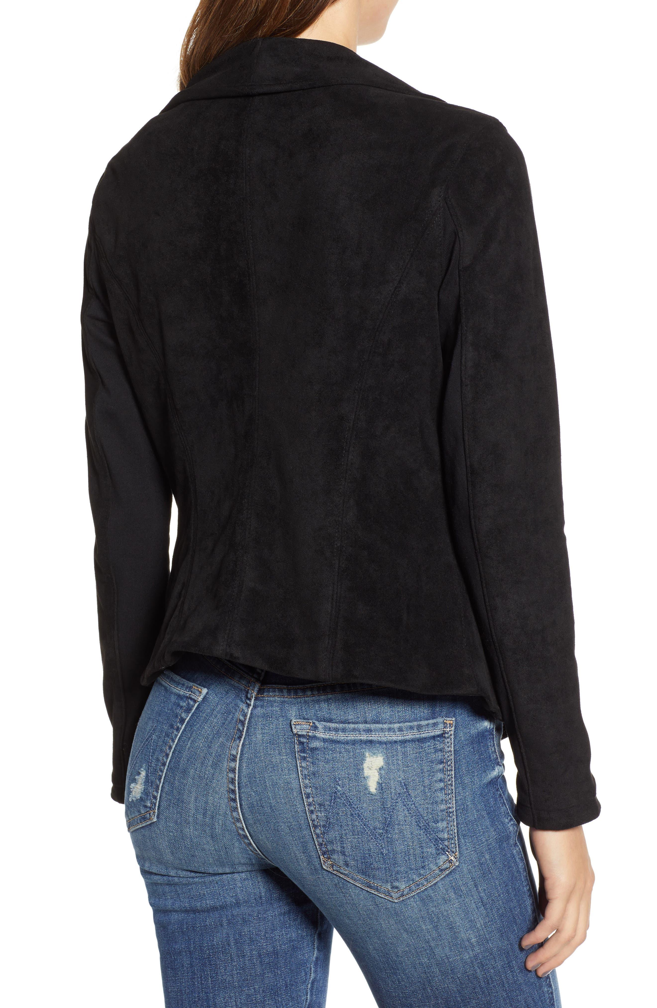 BLANKNYC, Legendary Faux Suede Jacket, Alternate thumbnail 2, color, 001