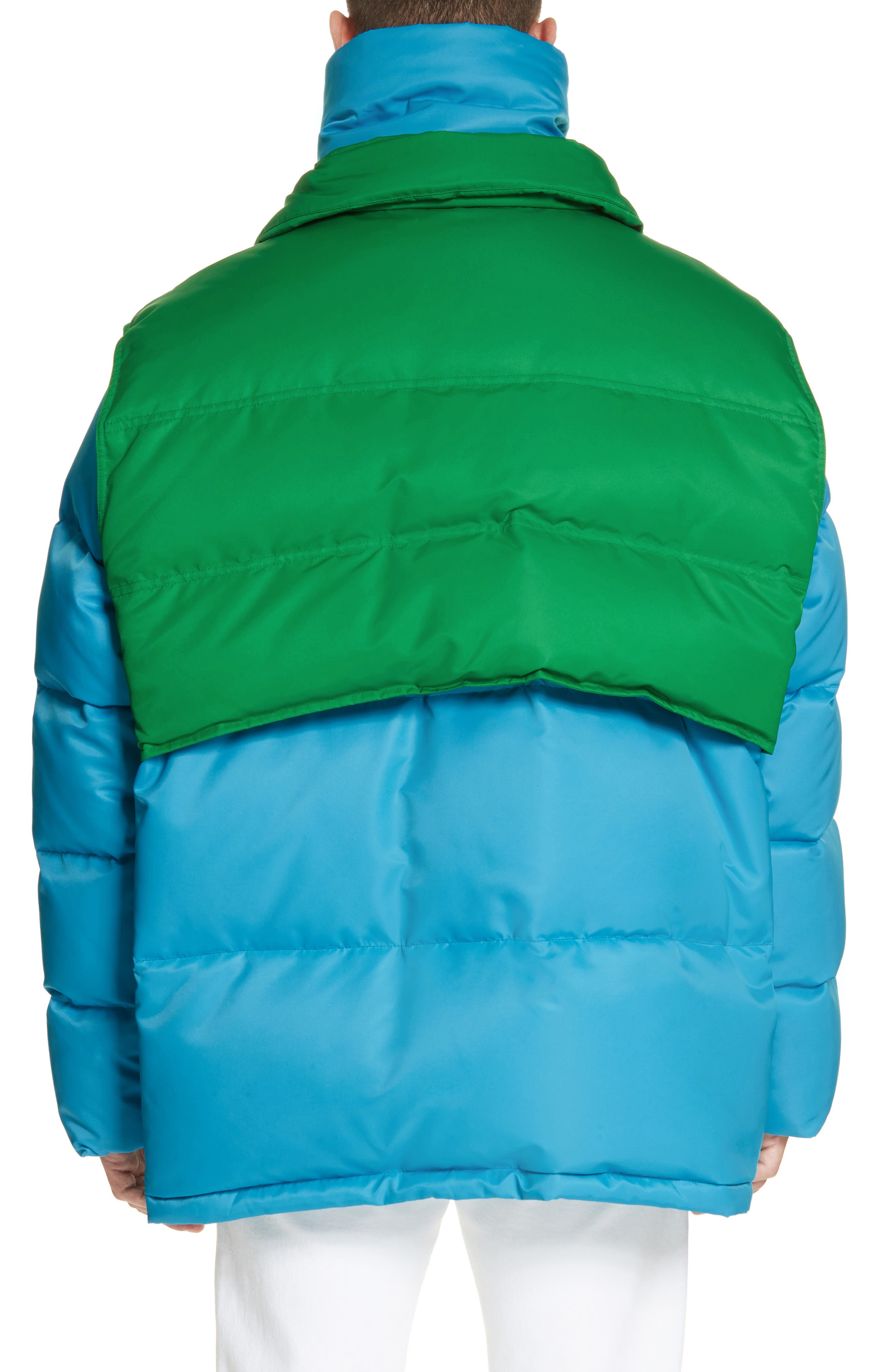 CALVIN KLEIN 205W39NYC, Water Repellent Quilted Puffer Jacket, Alternate thumbnail 2, color, RIVIERA BLUE SPRING GREEN