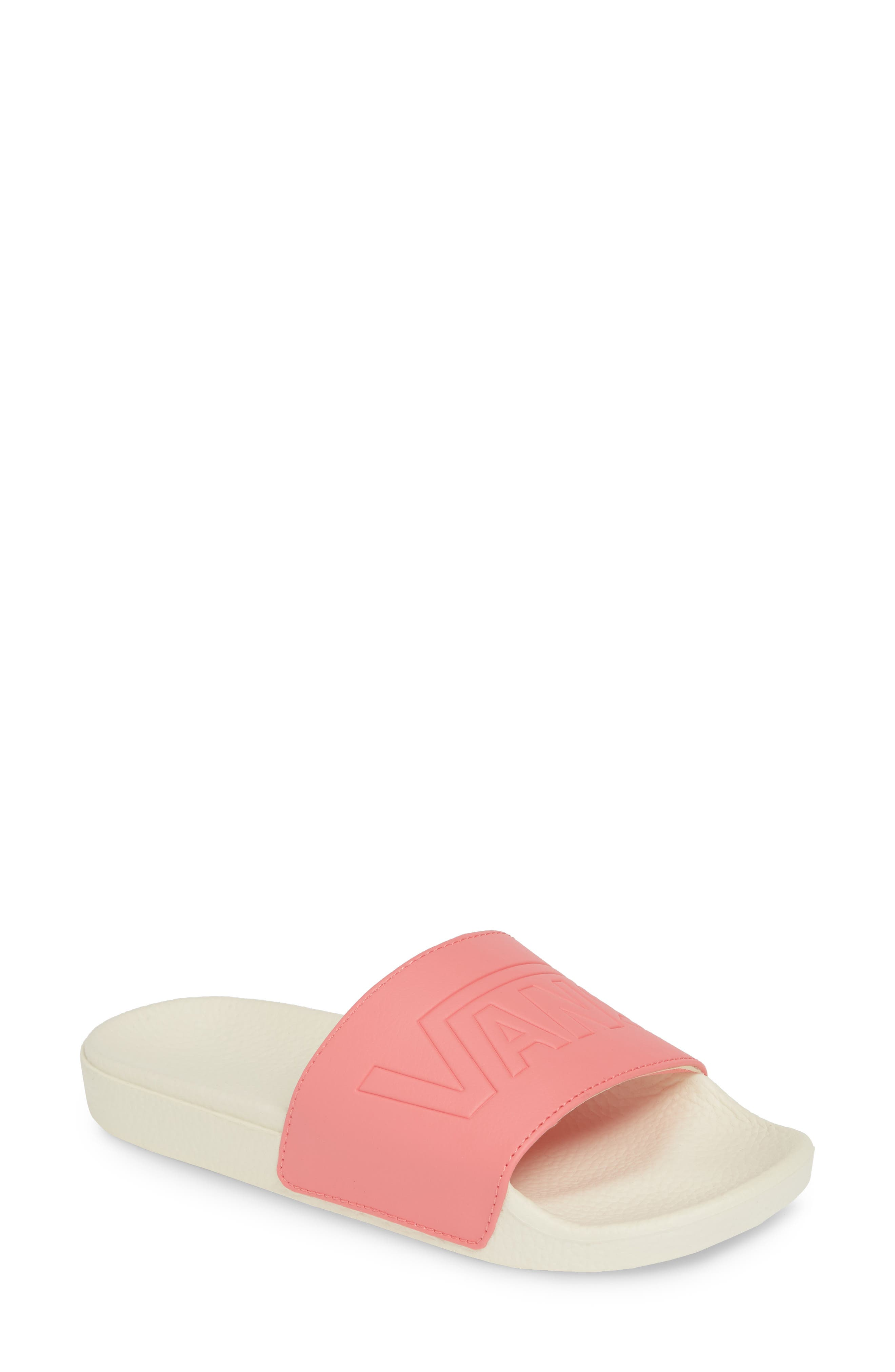 VANS, Slide-On Sandal, Main thumbnail 1, color, STRAWBERRY PINK