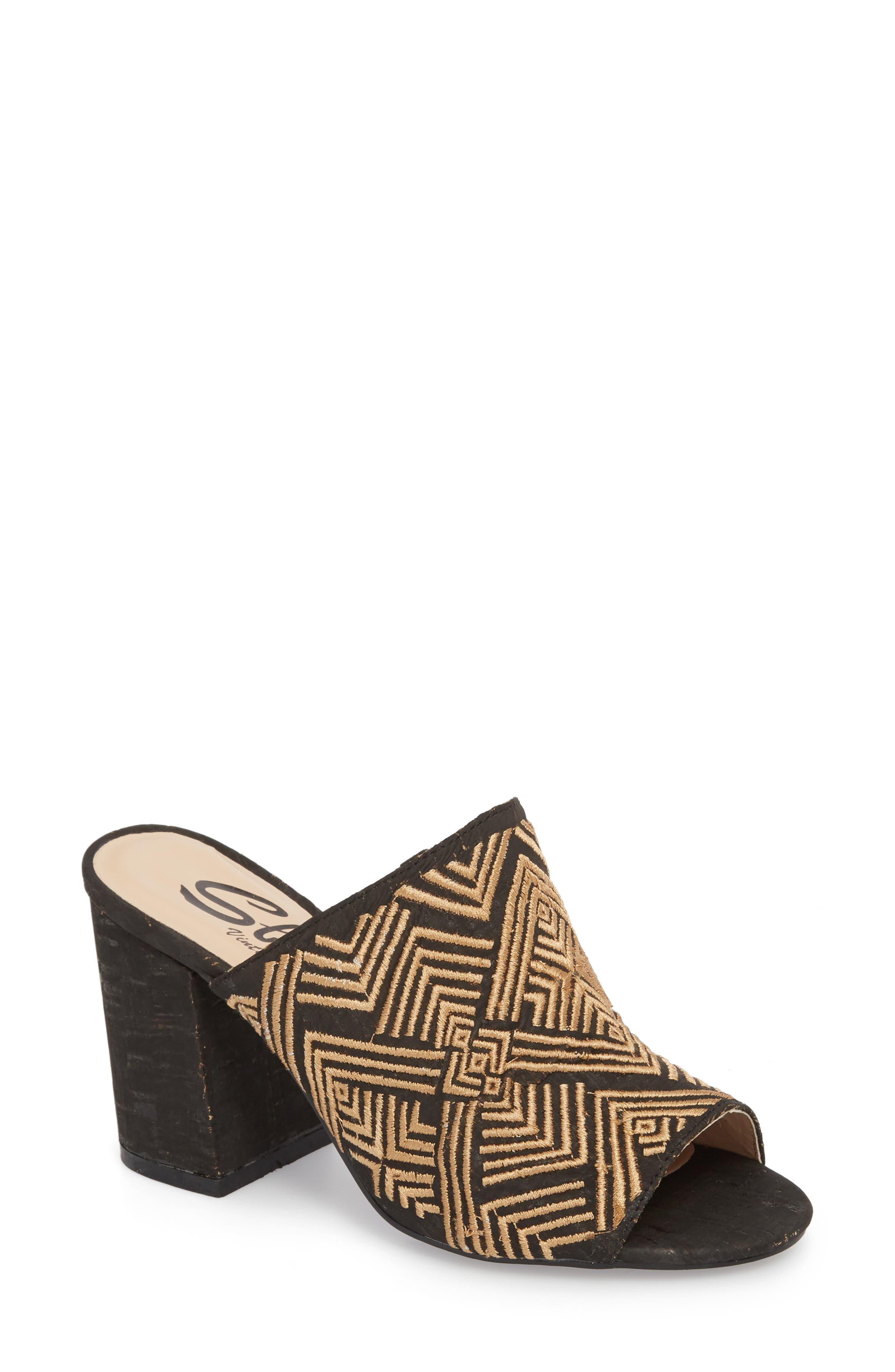 SBICCA Tania Mule, Main, color, BLACK