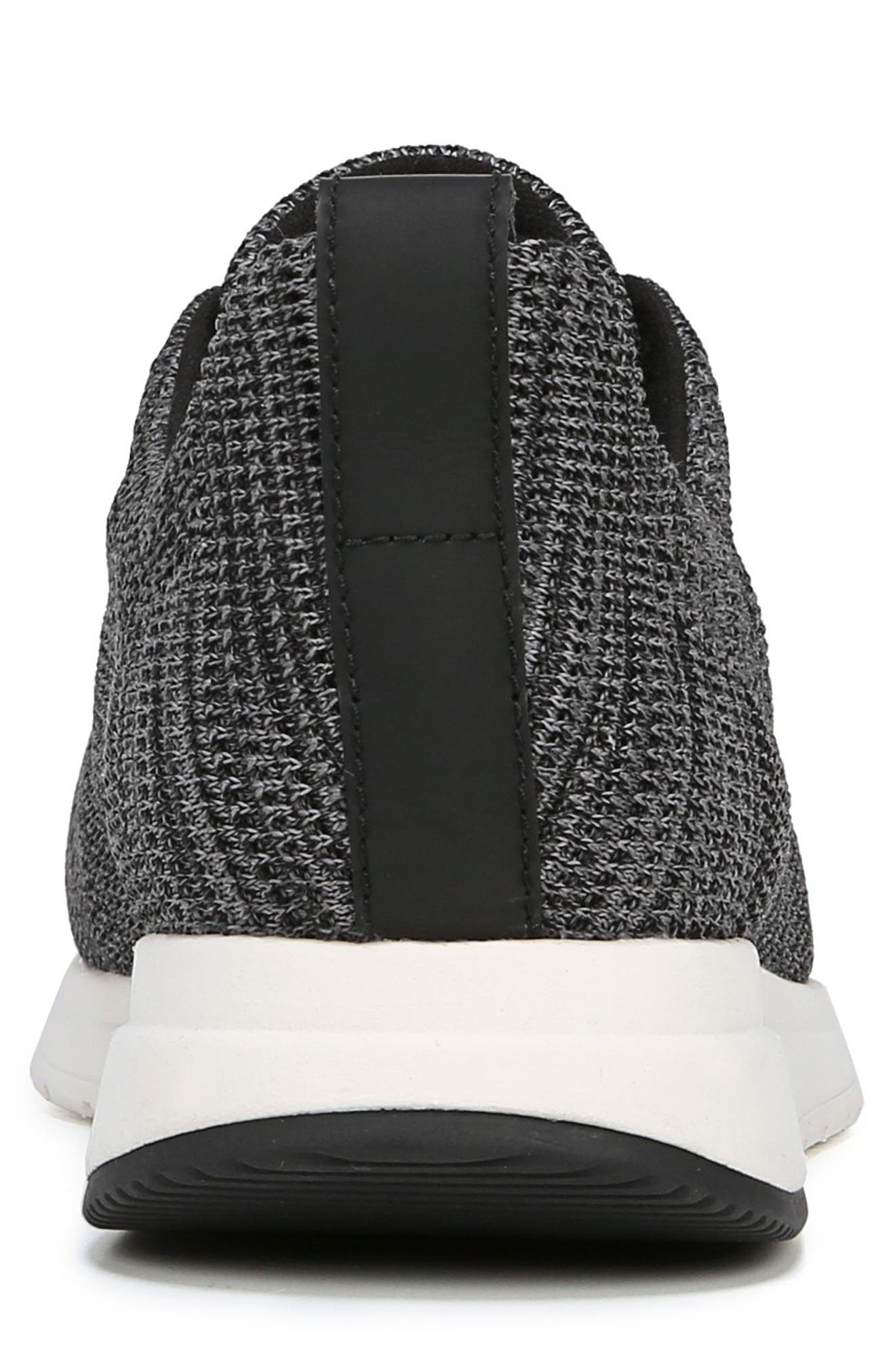 VINCE, Palo Knit Sneaker, Alternate thumbnail 7, color, MARL GREY/ BLACK