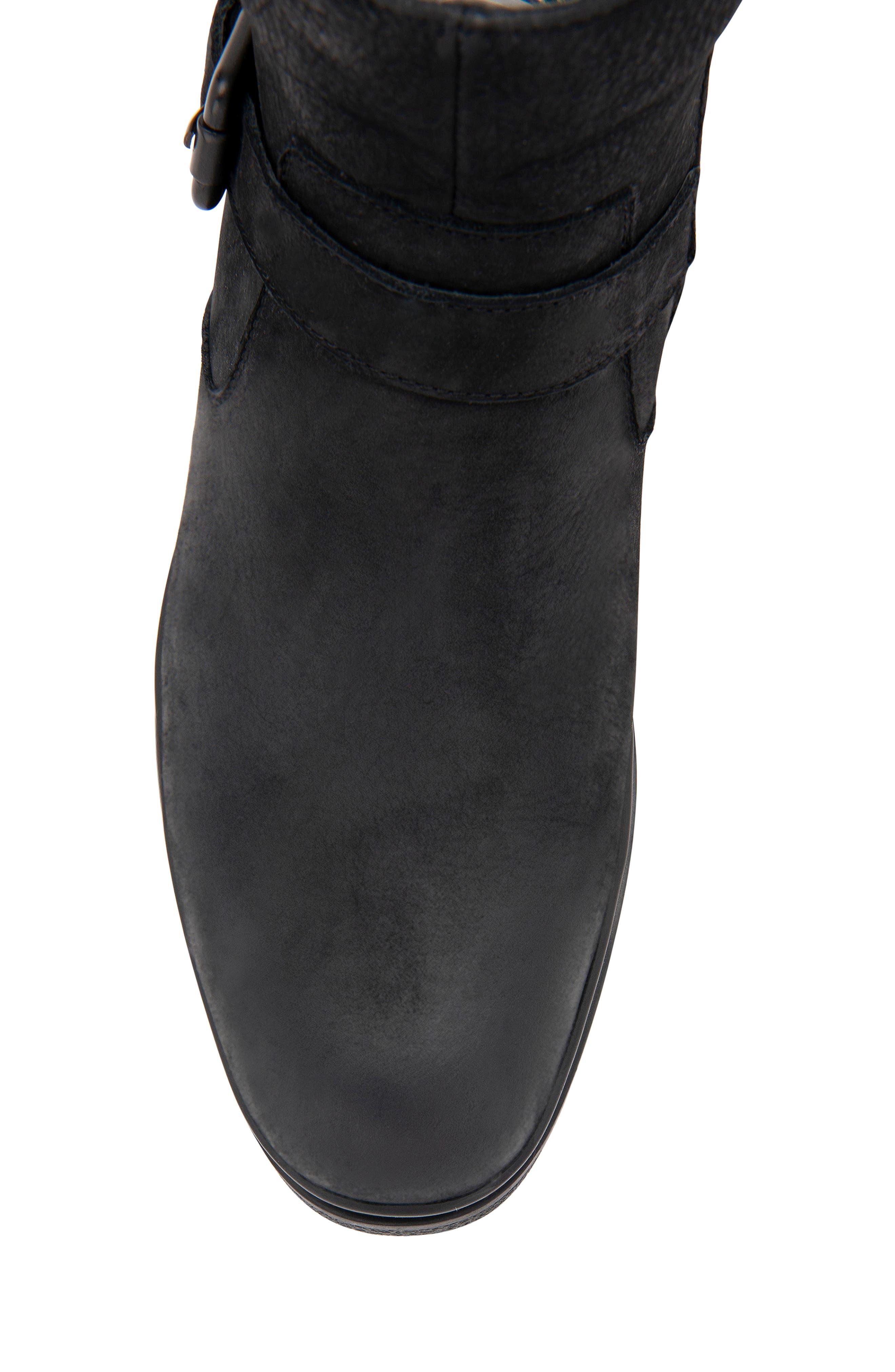 BLONDO, Sylvester Waterproof Buckle Boot, Alternate thumbnail 6, color, BLACK NUBUCK