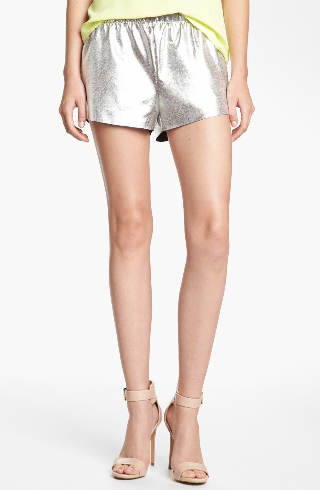 LEITH, 'Cosmic' Metallic Tap Shorts, Main thumbnail 1, color, 040