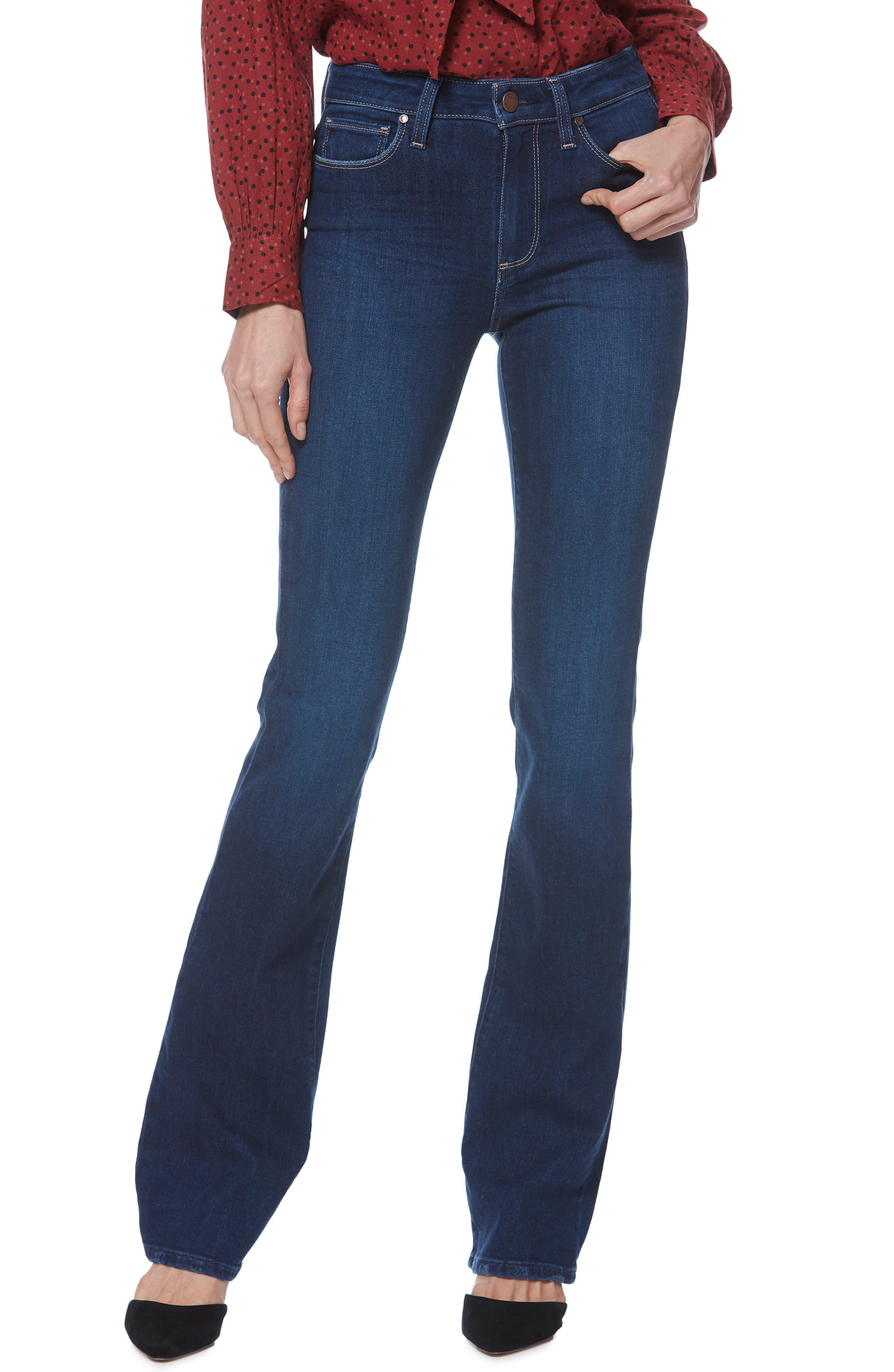 PAIGE, Transcend Vintage - Manhattan Bootcut Jeans, Main thumbnail 1, color, 400