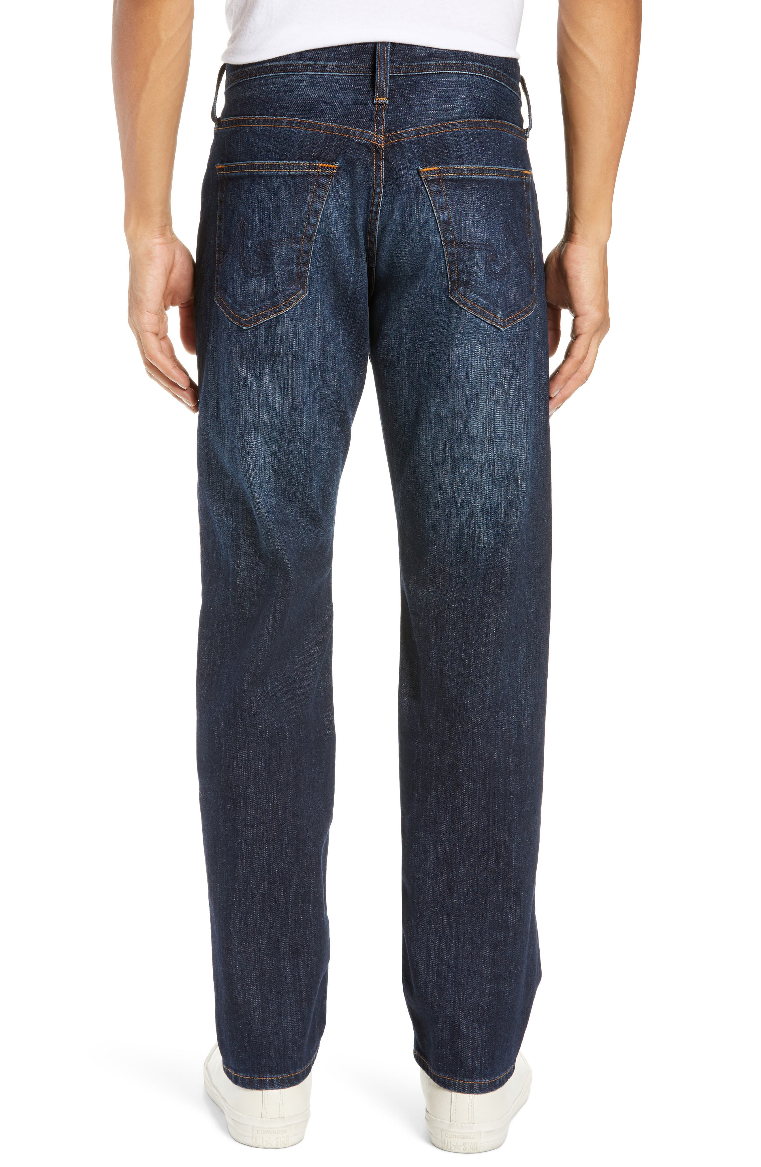 AG, Graduate Slim Straight Leg Jeans, Alternate thumbnail 2, color, WETHERBURN