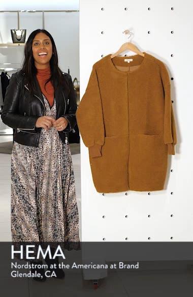Bonded Fleece Cocoon Coat, sales video thumbnail