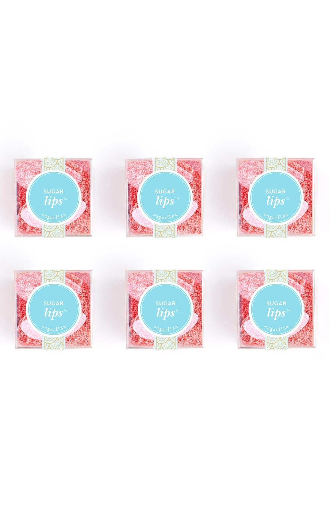SUGARFINA, Sugar Lips Set of 6 Party Pack, Main thumbnail 1, color, PINK