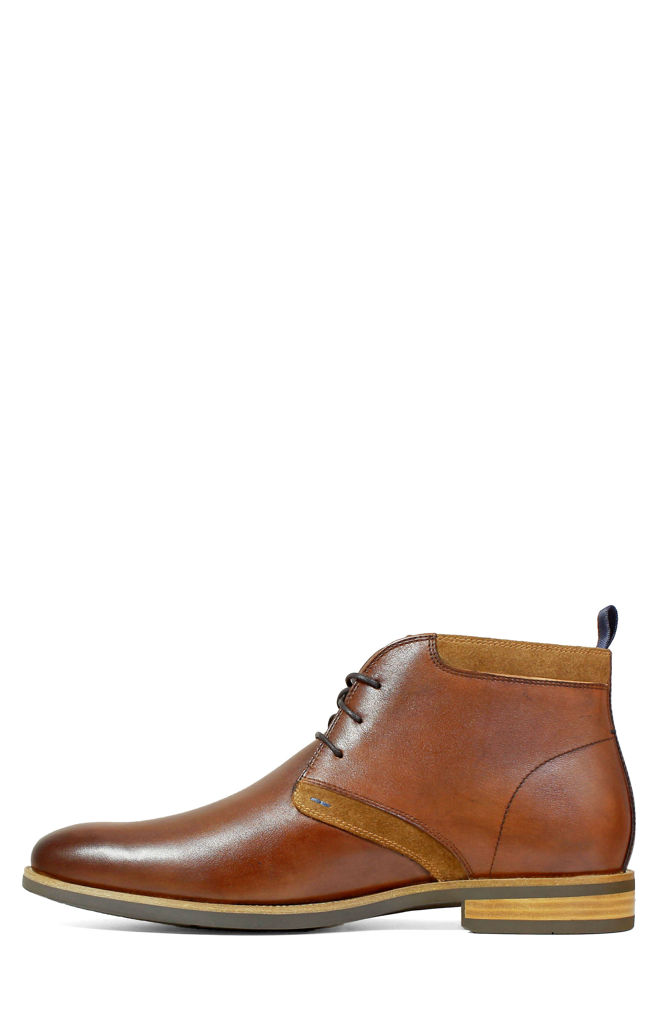 FLORSHEIM, Uptown Chukka Boot, Alternate thumbnail 8, color, COGNAC LEATHER