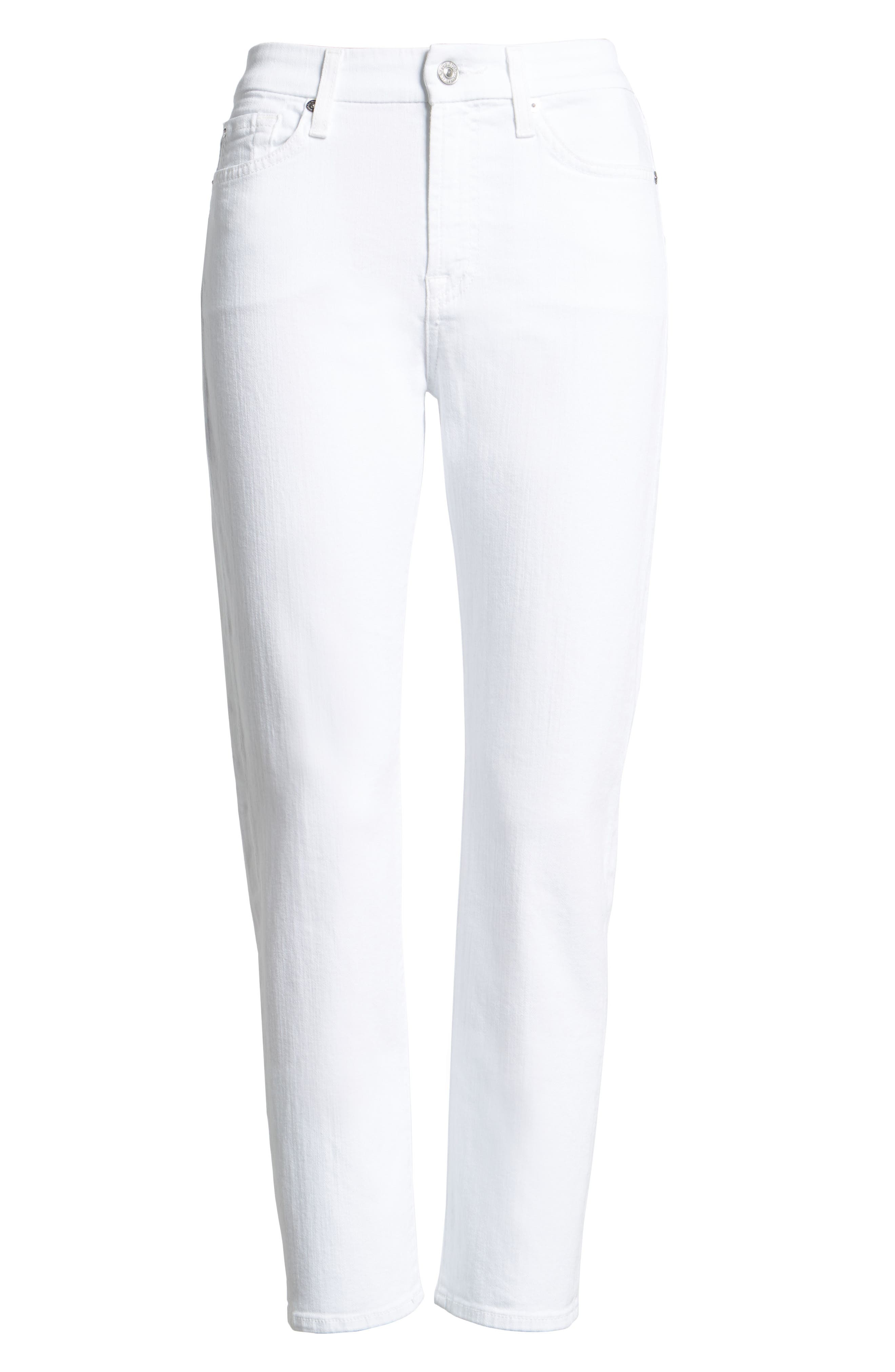 7 FOR ALL MANKIND<SUP>®</SUP>, 'Kimmie' Crop Skinny Jeans, Main thumbnail 1, color, CLEAN WHITE