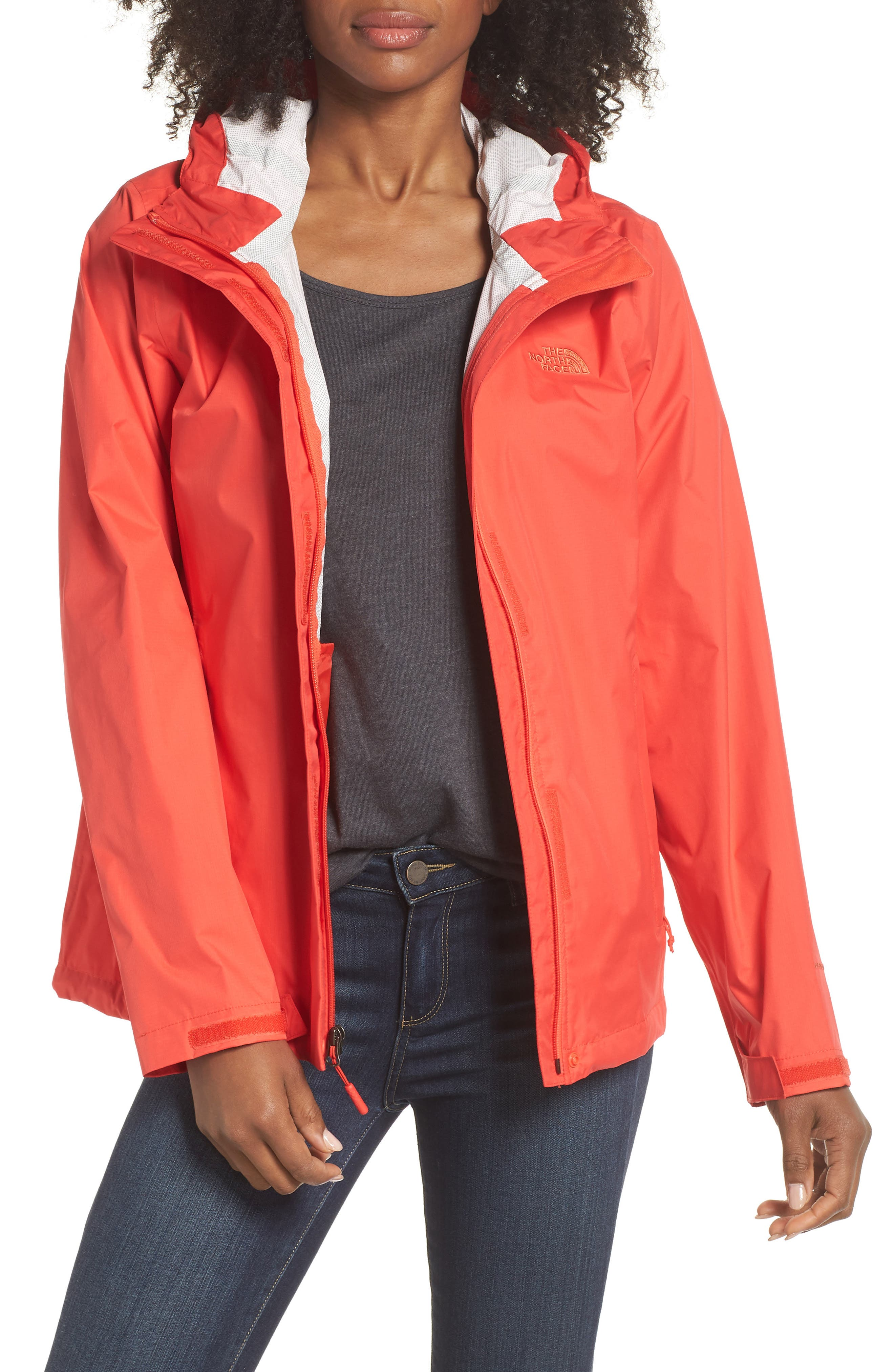 THE NORTH FACE, Venture 2 Waterproof Jacket, Main thumbnail 1, color, JUICY RED