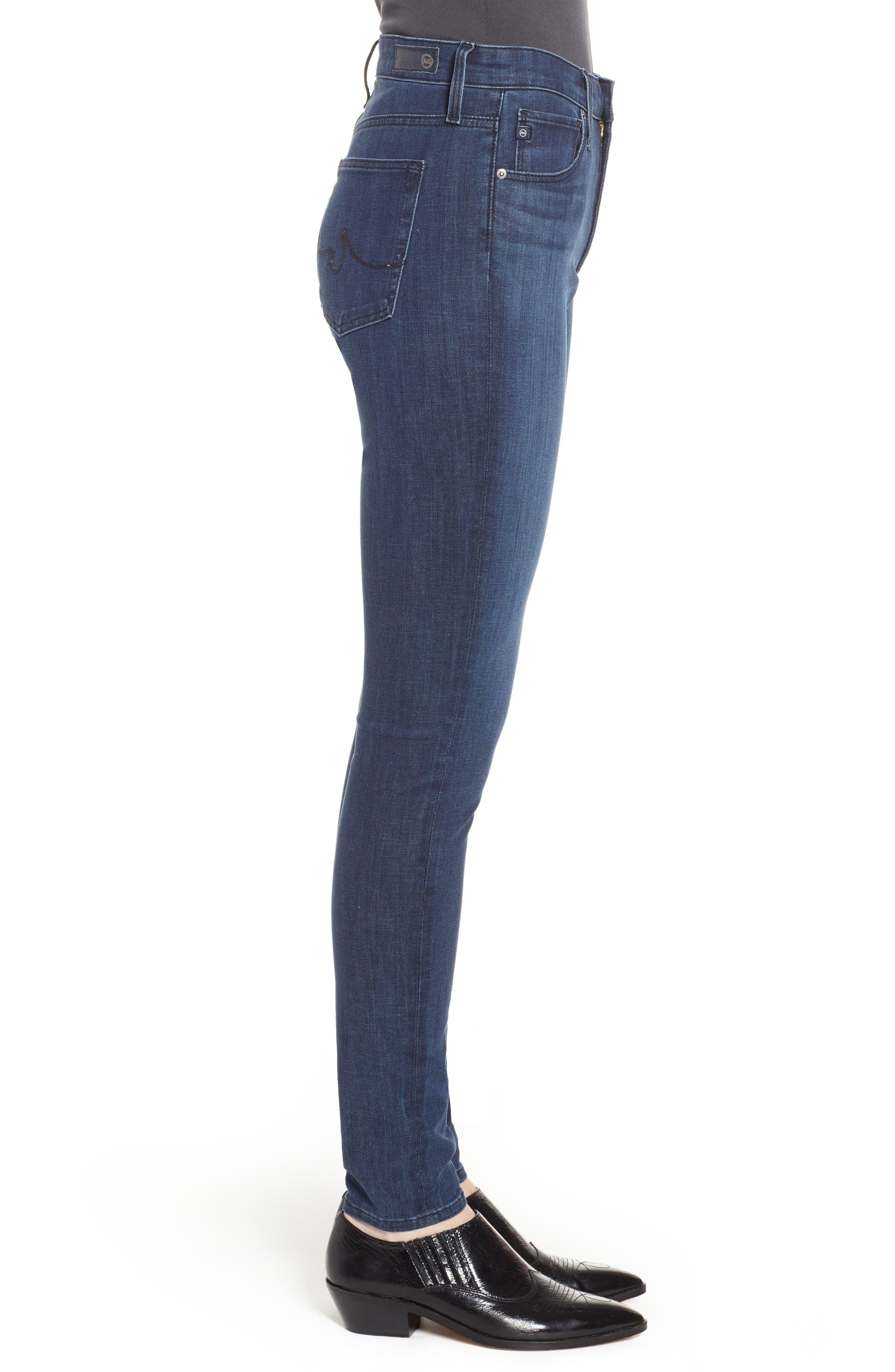 AG, The Farrah High Waist Skinny Jeans, Alternate thumbnail 4, color, 430