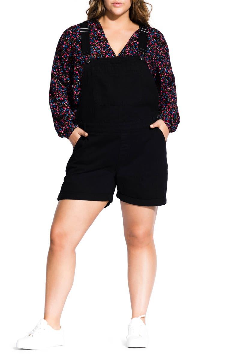 City Chic Shorts SHORT DENIM OVERALLS