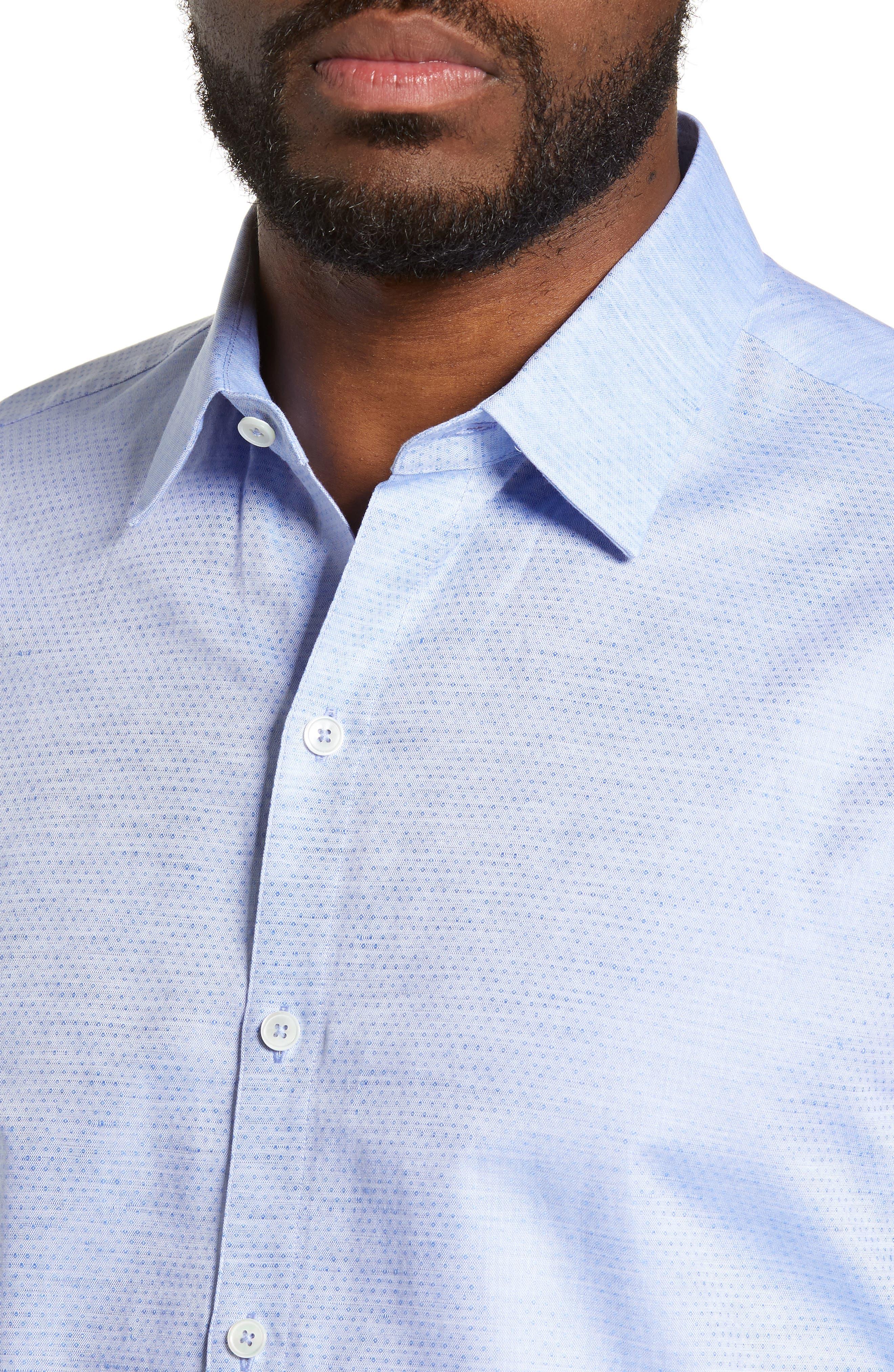 ZACHARY PRELL, Alfano Regular Fit Cotton & Linen Sport Shirt, Alternate thumbnail 2, color, LT BLUE