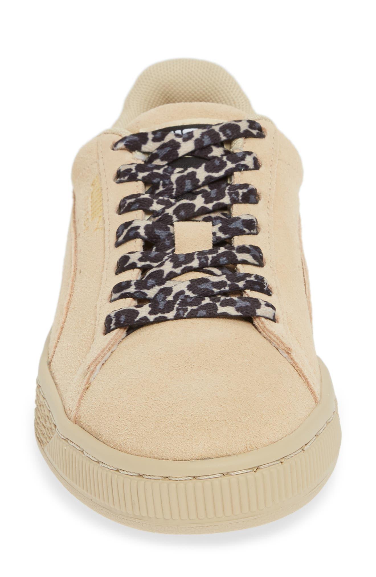 PUMA, Suede Wild Sneaker, Alternate thumbnail 4, color, 280