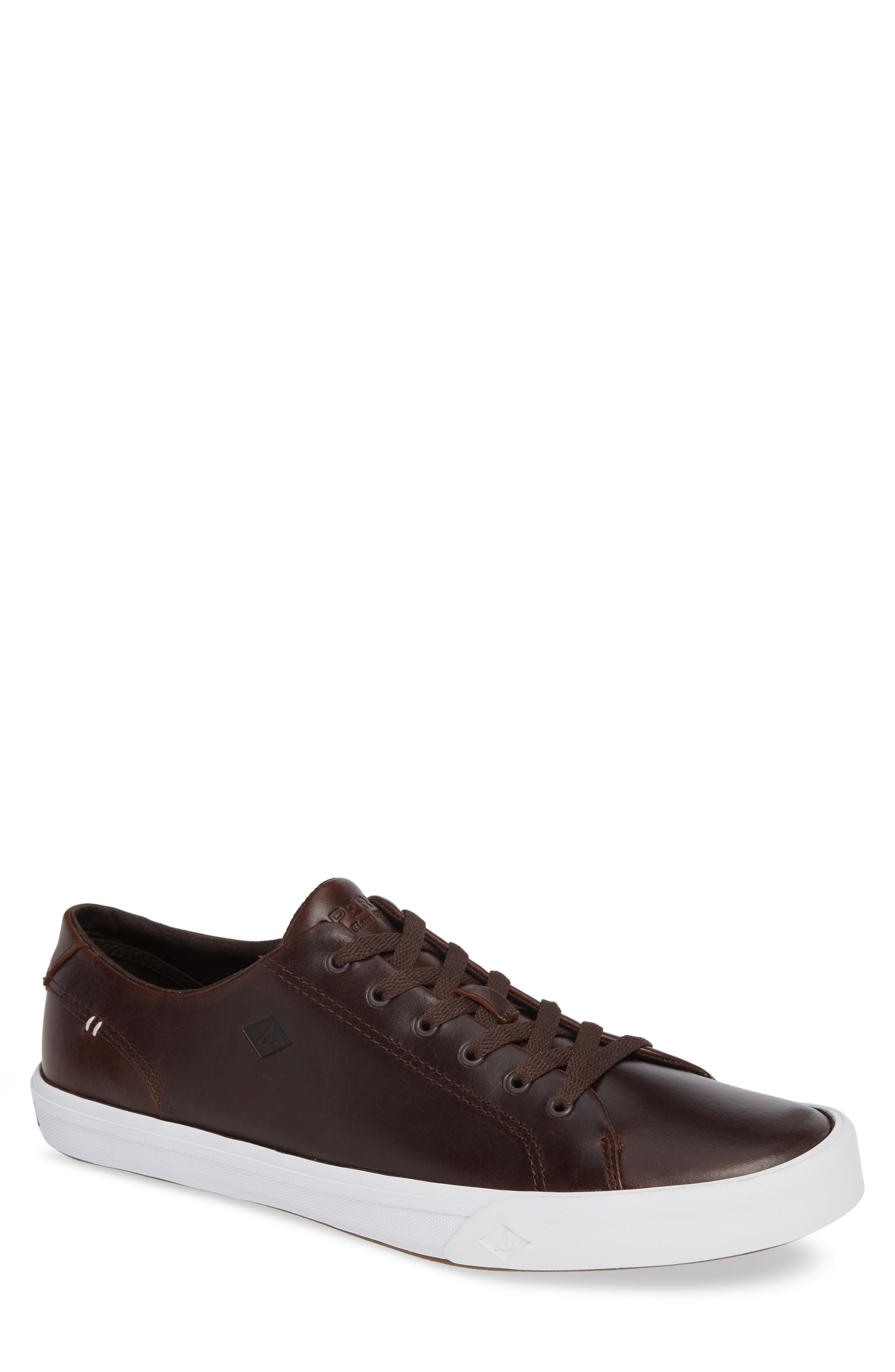 SPERRY, Striper II Sneaker, Main thumbnail 1, color, AMARETTO LEATHER