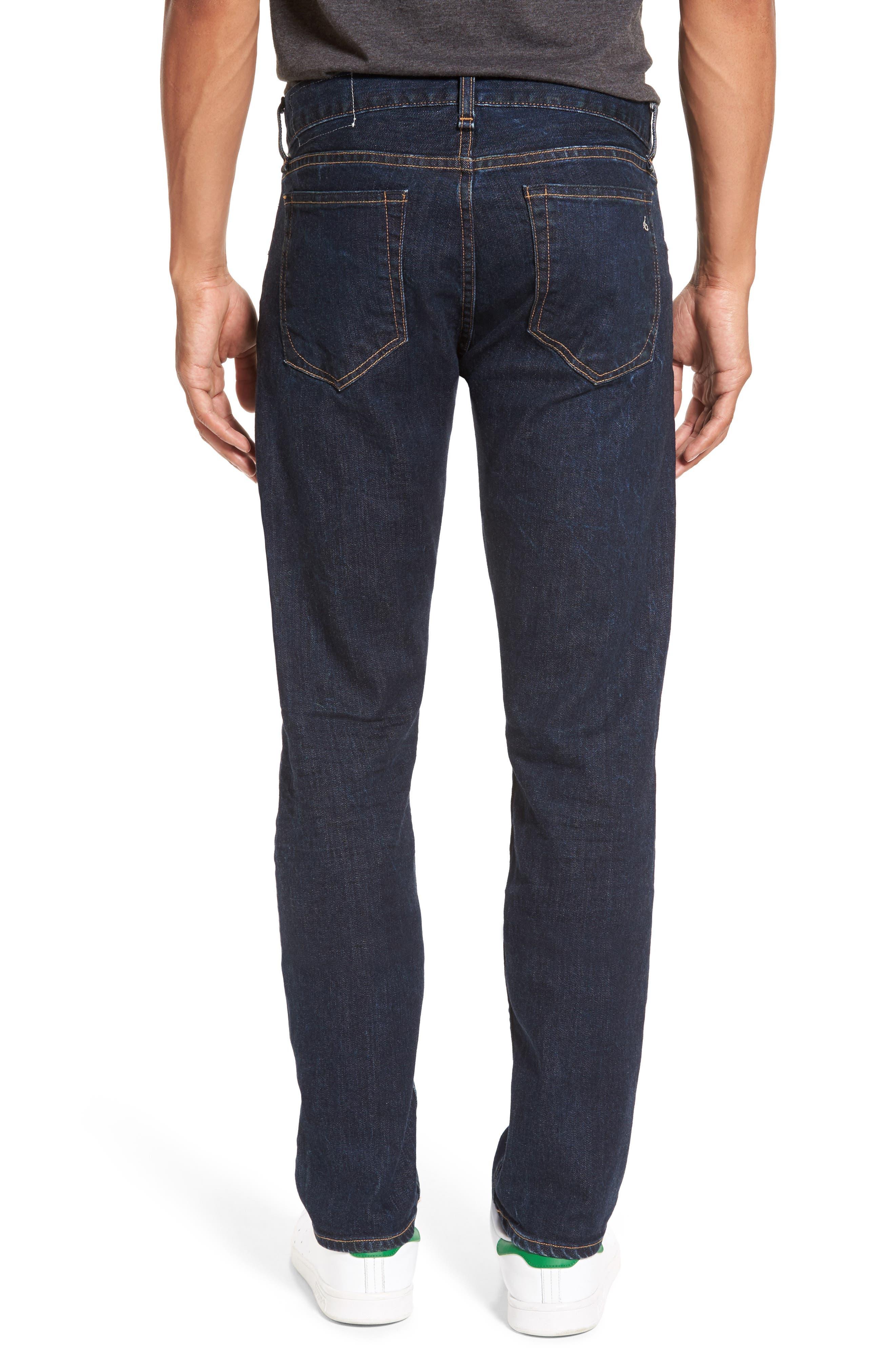 RAG & BONE, Standard Issue Fit 3 Slim Straight Leg Jeans, Alternate thumbnail 2, color, HERITAGE