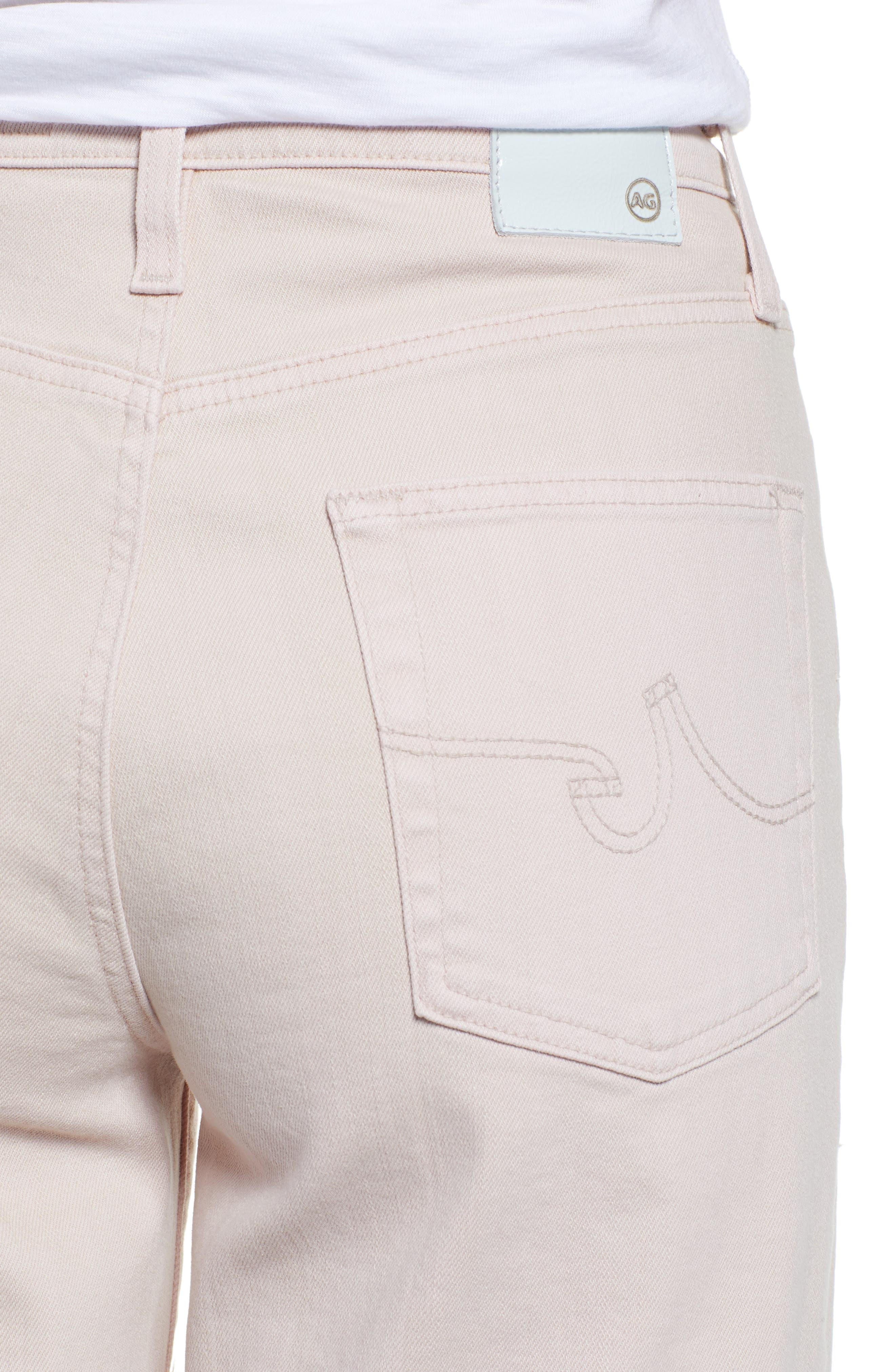 AG, Etta High Waist Crop Wide Leg Jeans, Alternate thumbnail 5, color, SULFUR PEAKED PINK