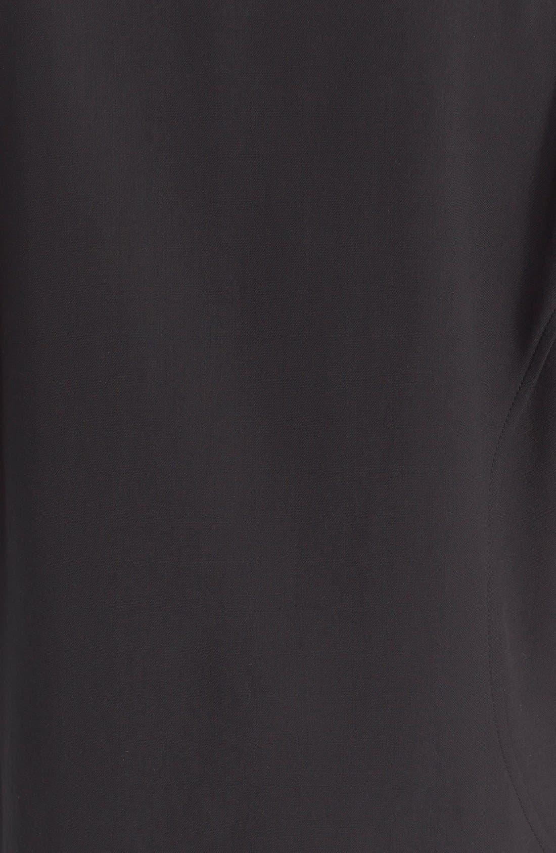 BELSTAFF, Grommet Detail Stretch Cotton Shift Dress, Alternate thumbnail 3, color, 001
