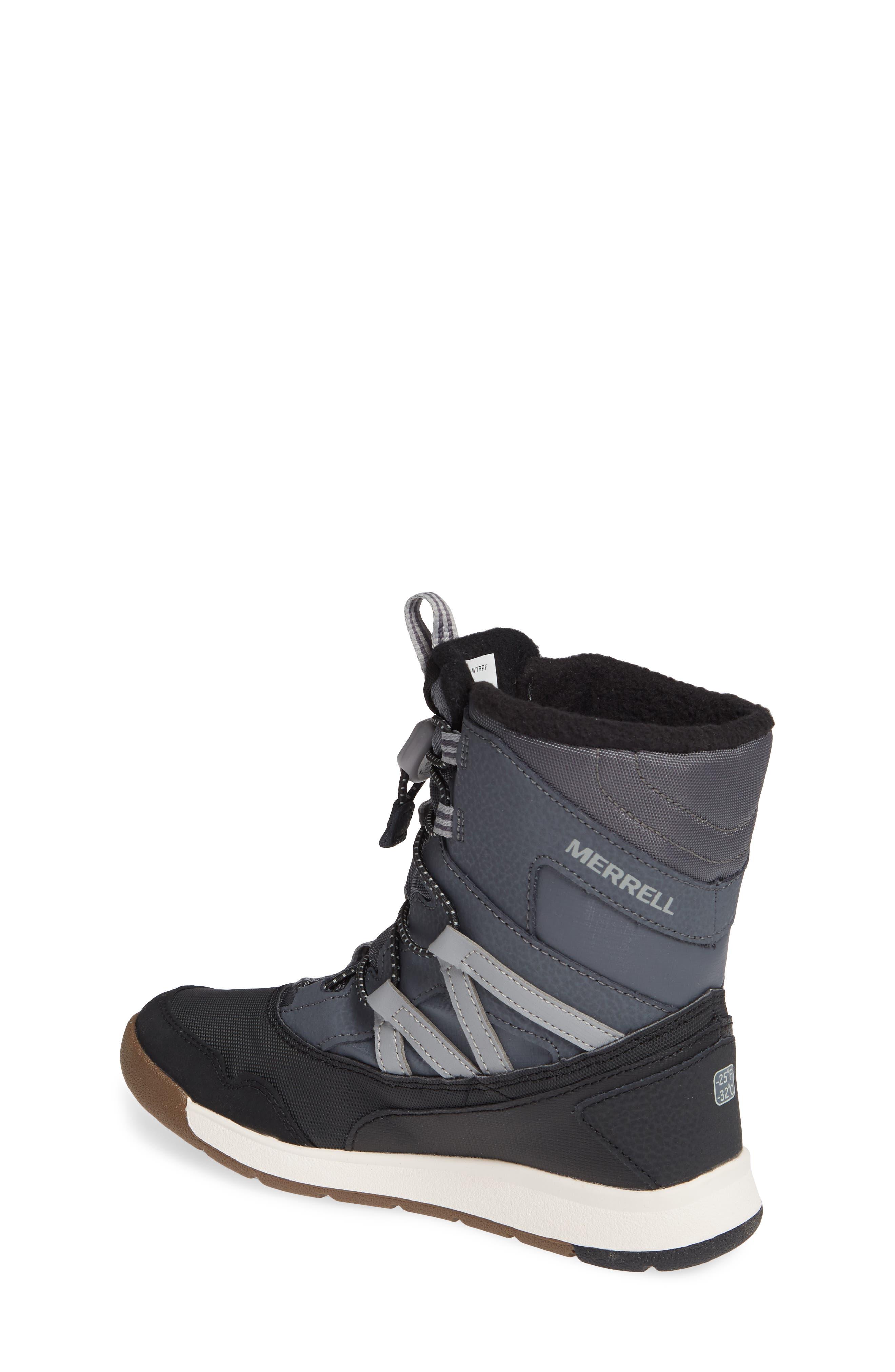 MERRELL, Snow Crush Waterproof Snow Boot, Alternate thumbnail 2, color, 020