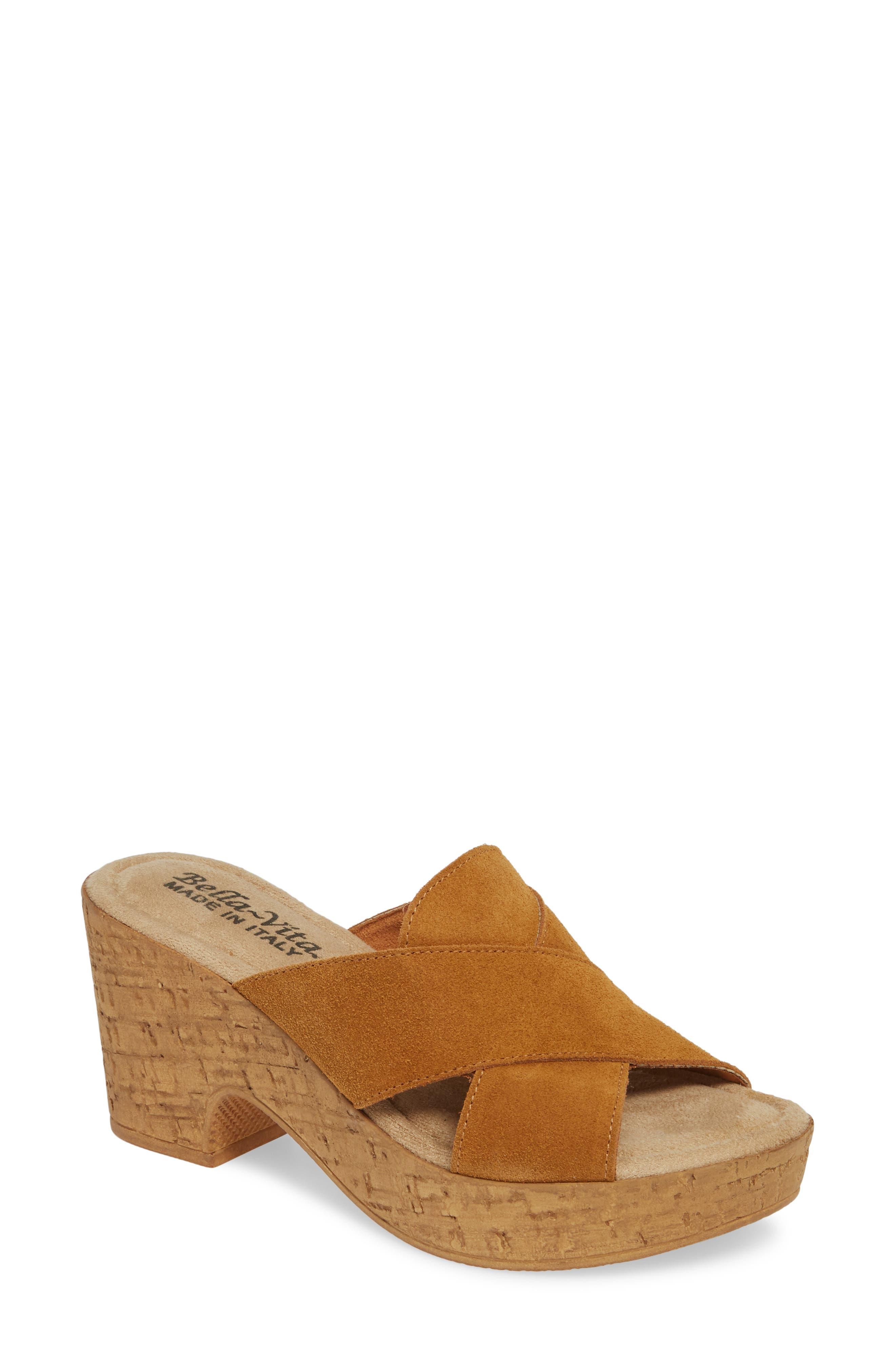 Bella Vita Platform Sandal, Brown