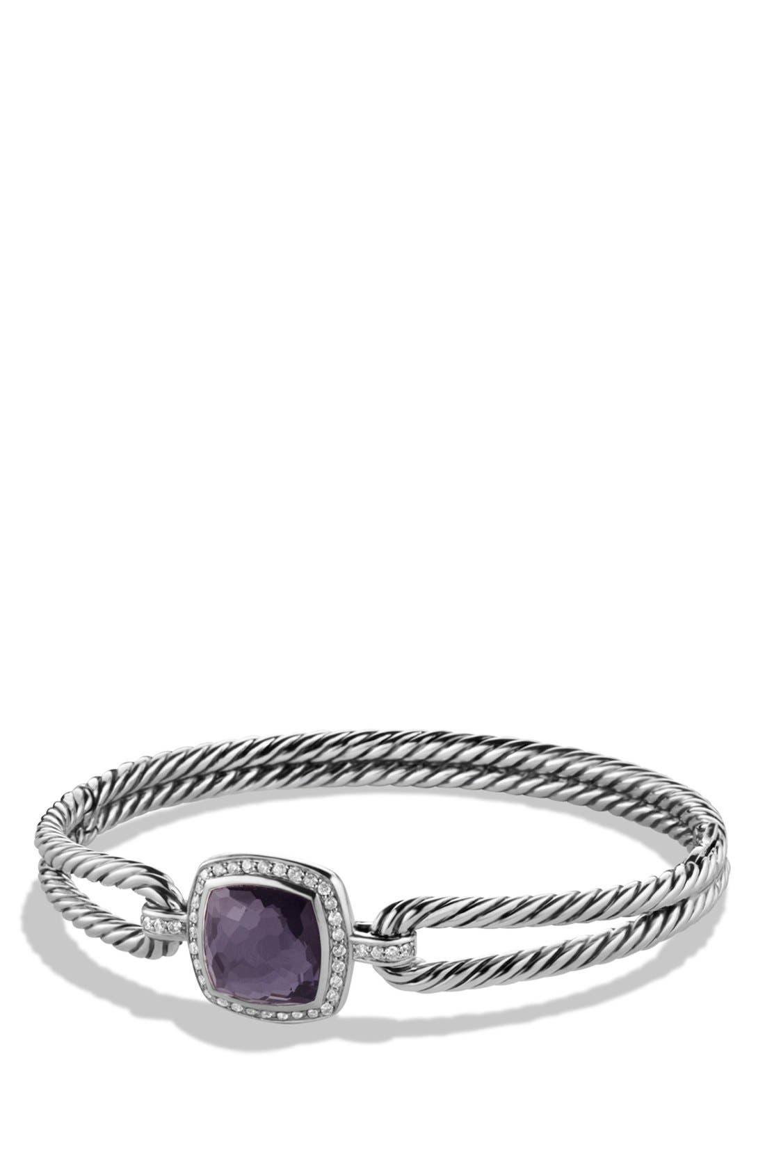 DAVID YURMAN, 'Albion' Bracelet with Semiprecious Stone and Diamonds, Main thumbnail 1, color, BLACK ORCHID