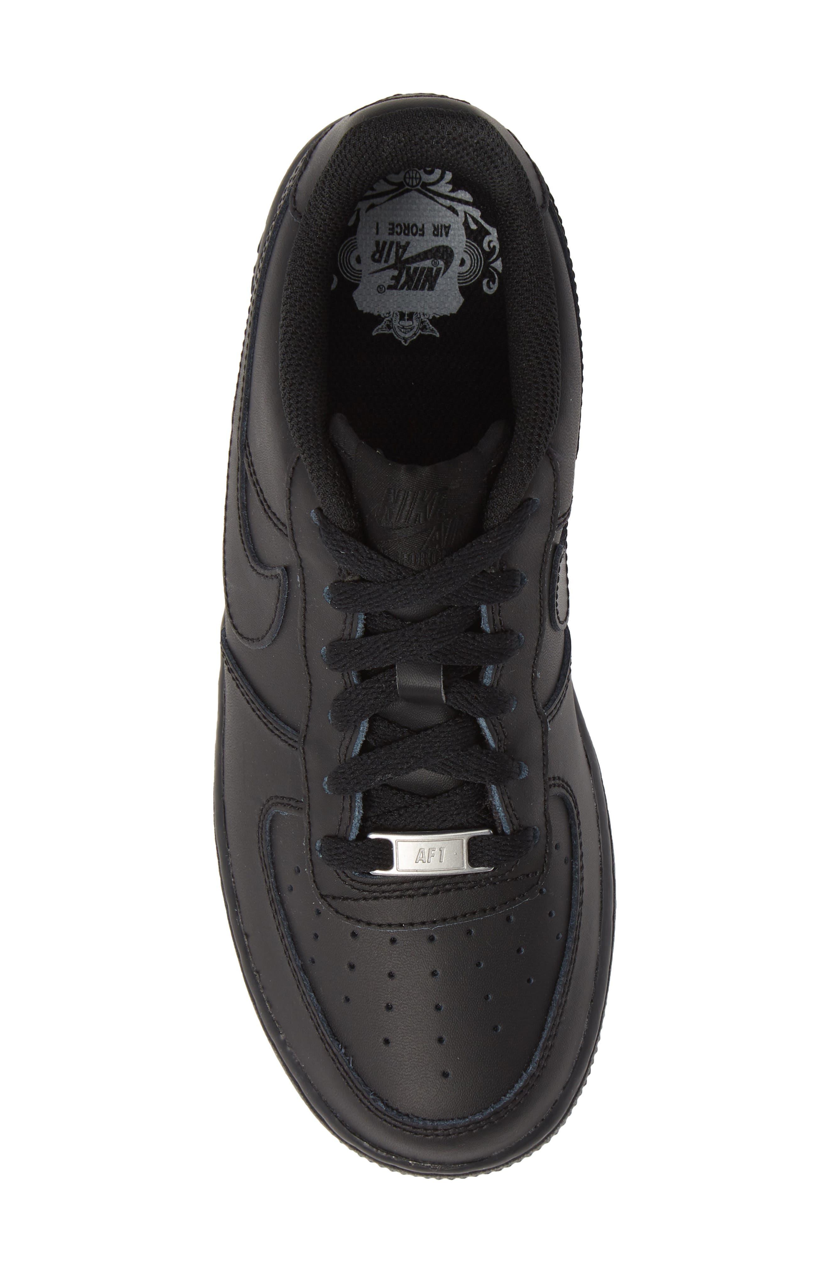 NIKE, Air Force 1 Sneaker, Alternate thumbnail 5, color, BLACK/ BLACK/ BLACK