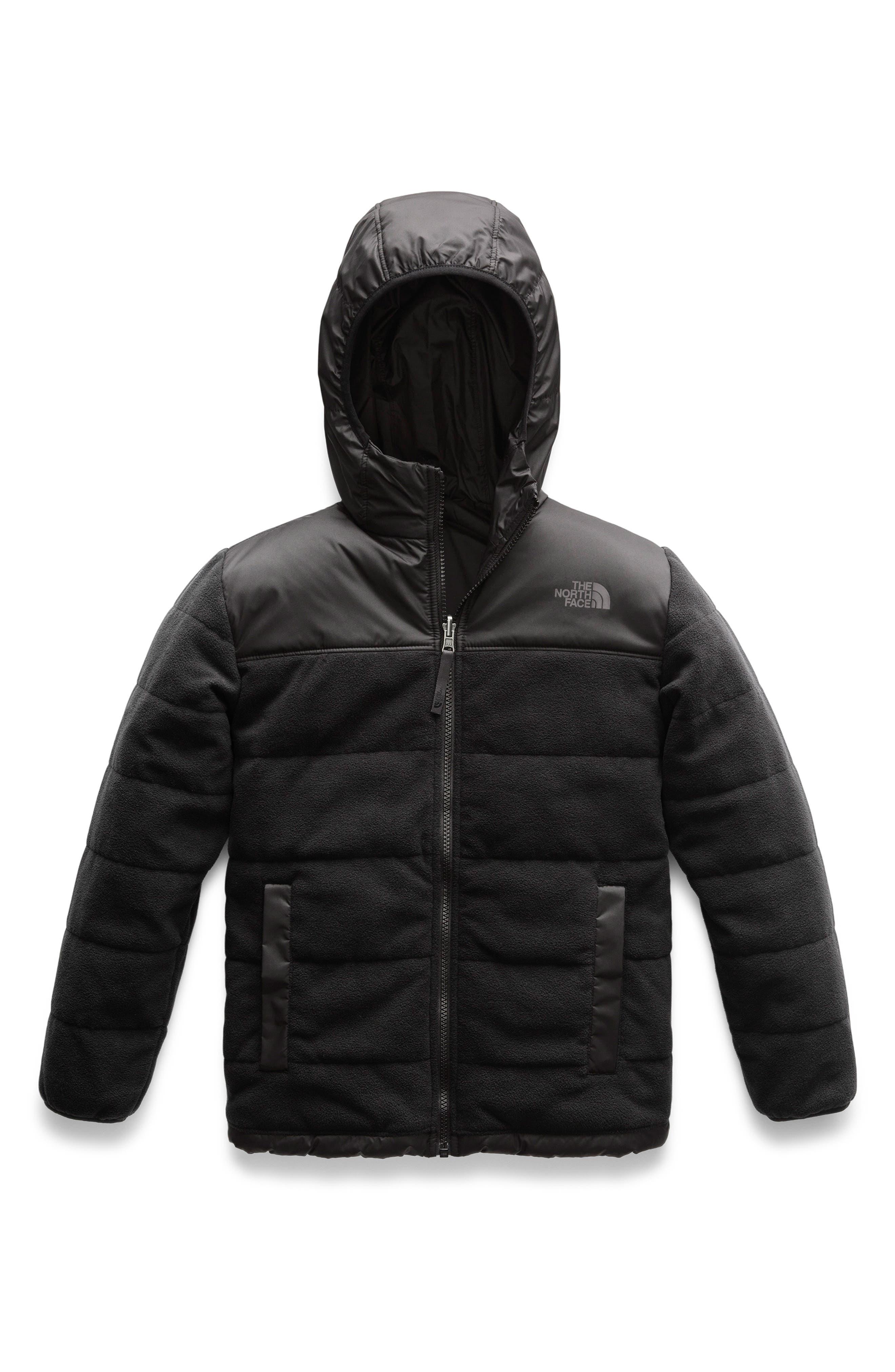 Boys The North Face True Or False Reversible Jacket Size L (1416)  Black