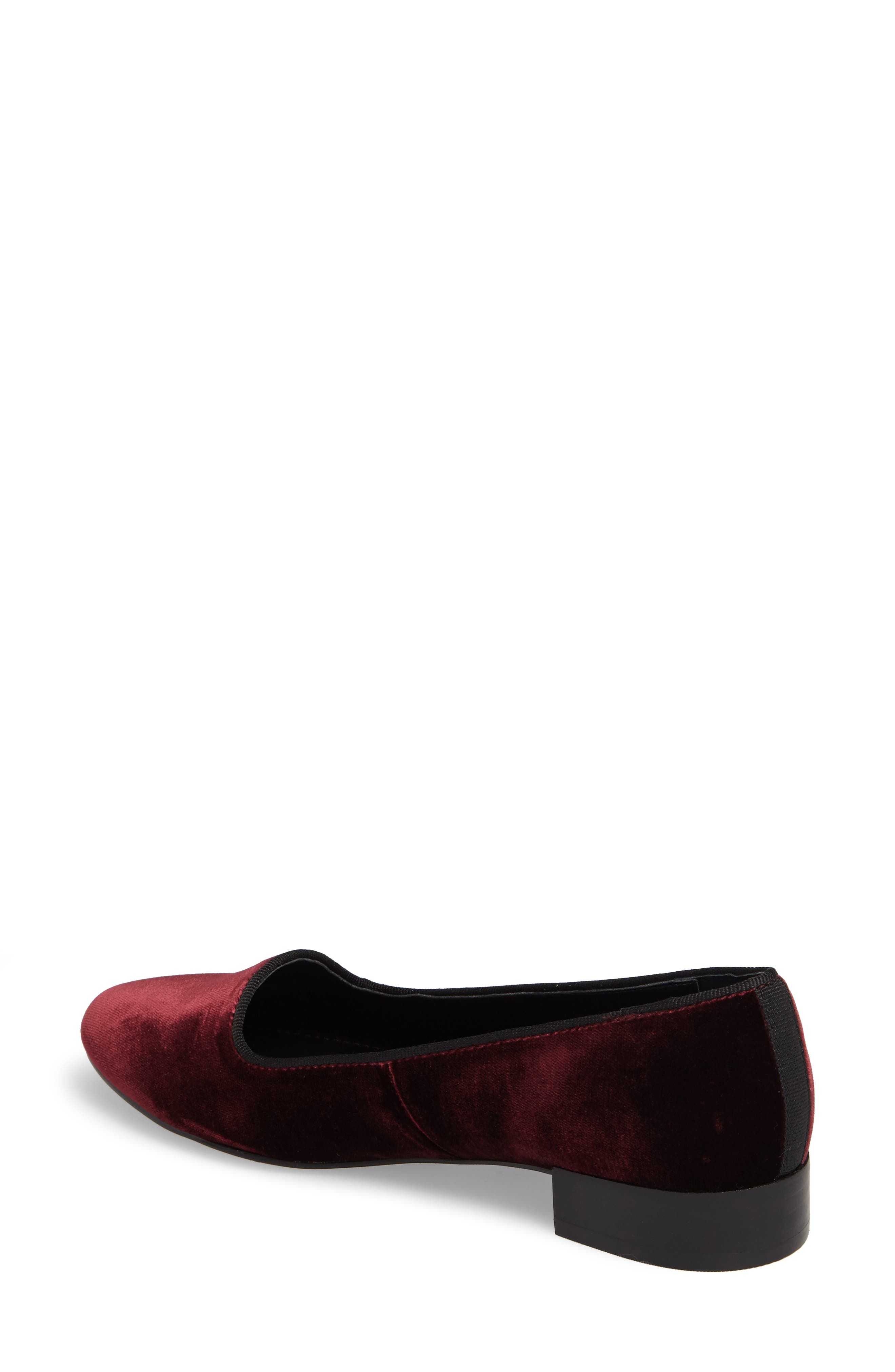ISOLÁ, Casoria Smoking Slipper, Alternate thumbnail 2, color, BORDEAUX VELVET
