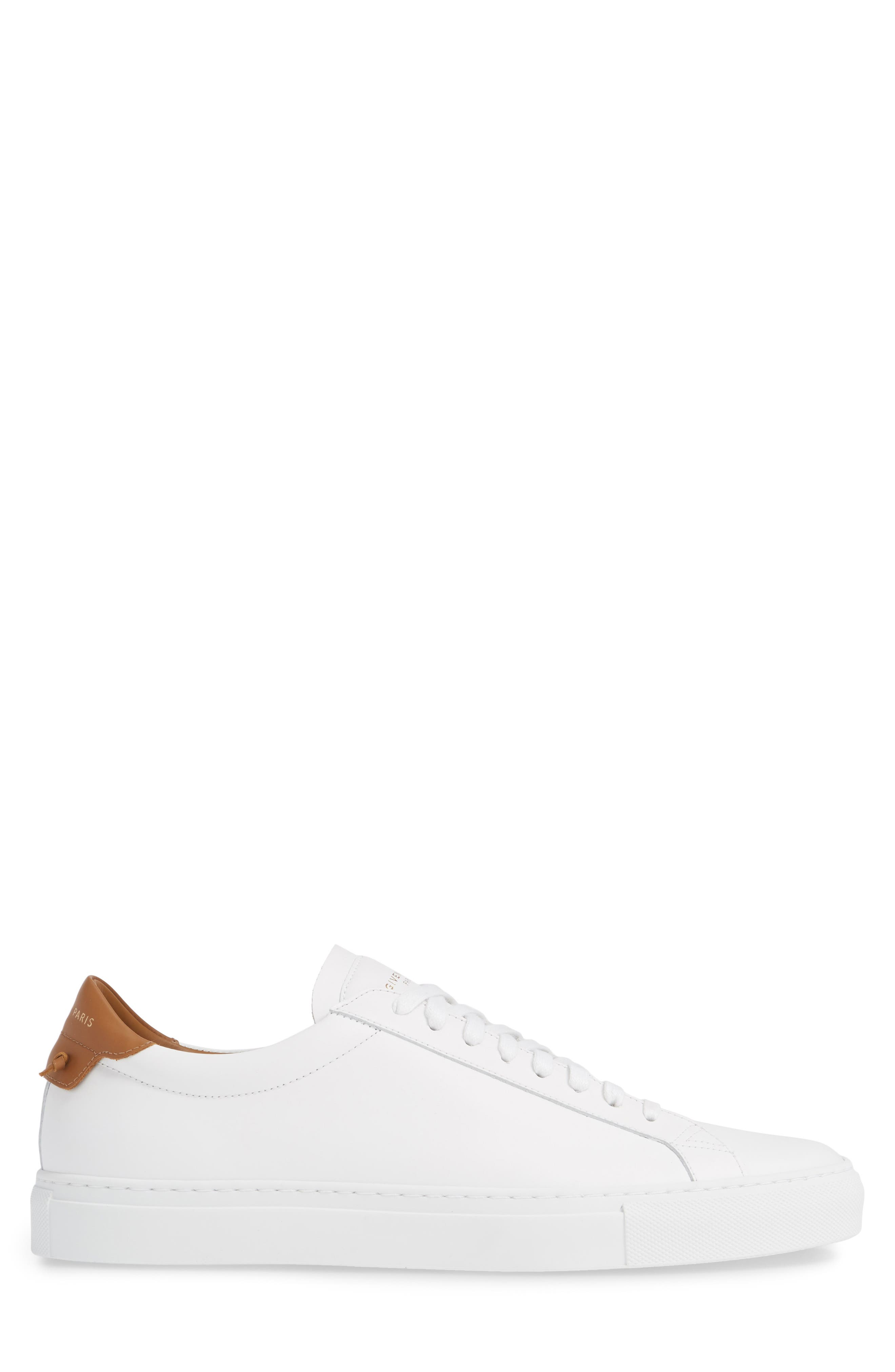 GIVENCHY, Urban Knots Low Sneaker, Alternate thumbnail 3, color, WHITE/ BEIGE