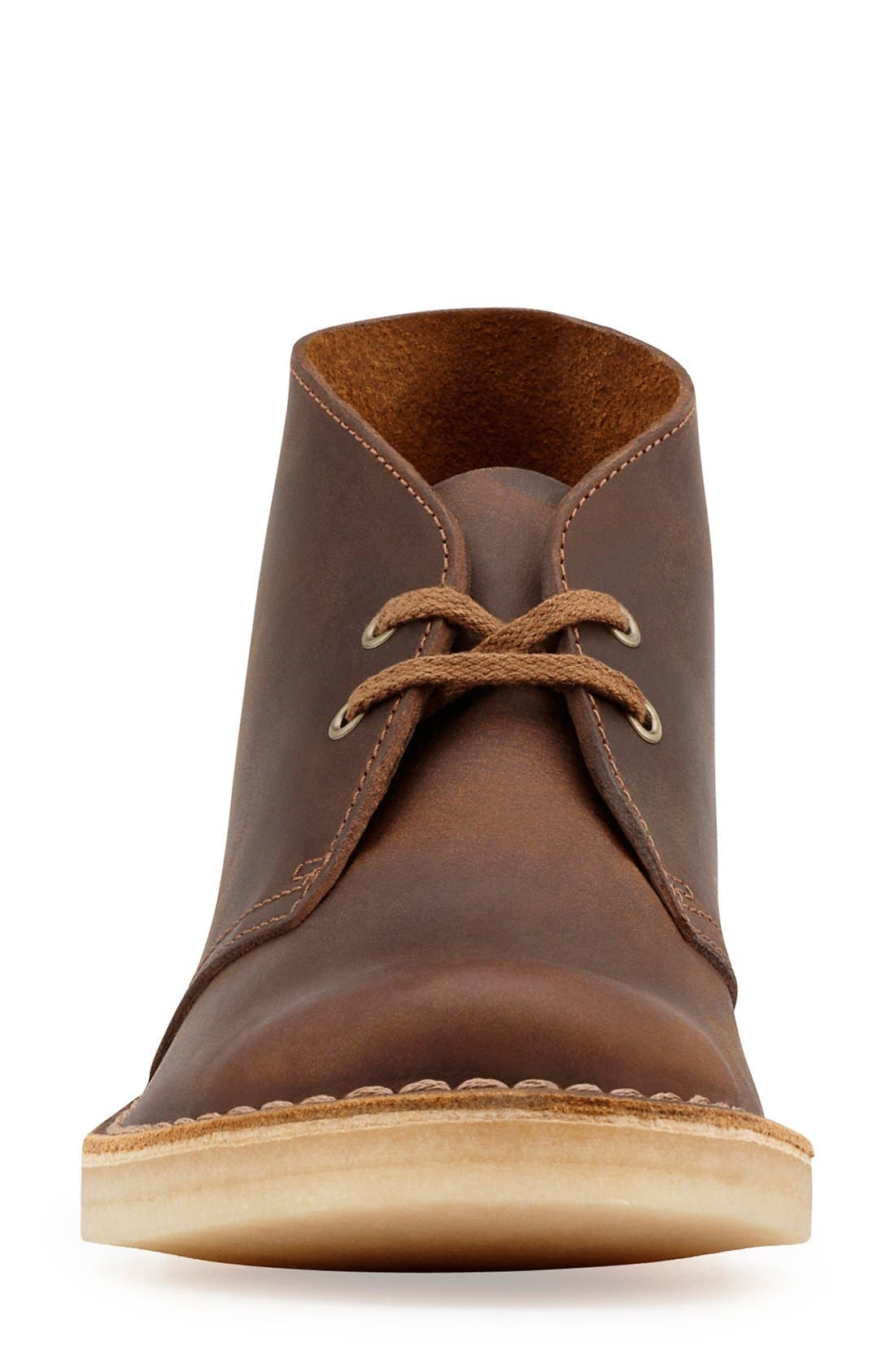 CLARKS<SUP>®</SUP>, Desert ChukkaBoot, Alternate thumbnail 4, color, BEESWAX LEATHER