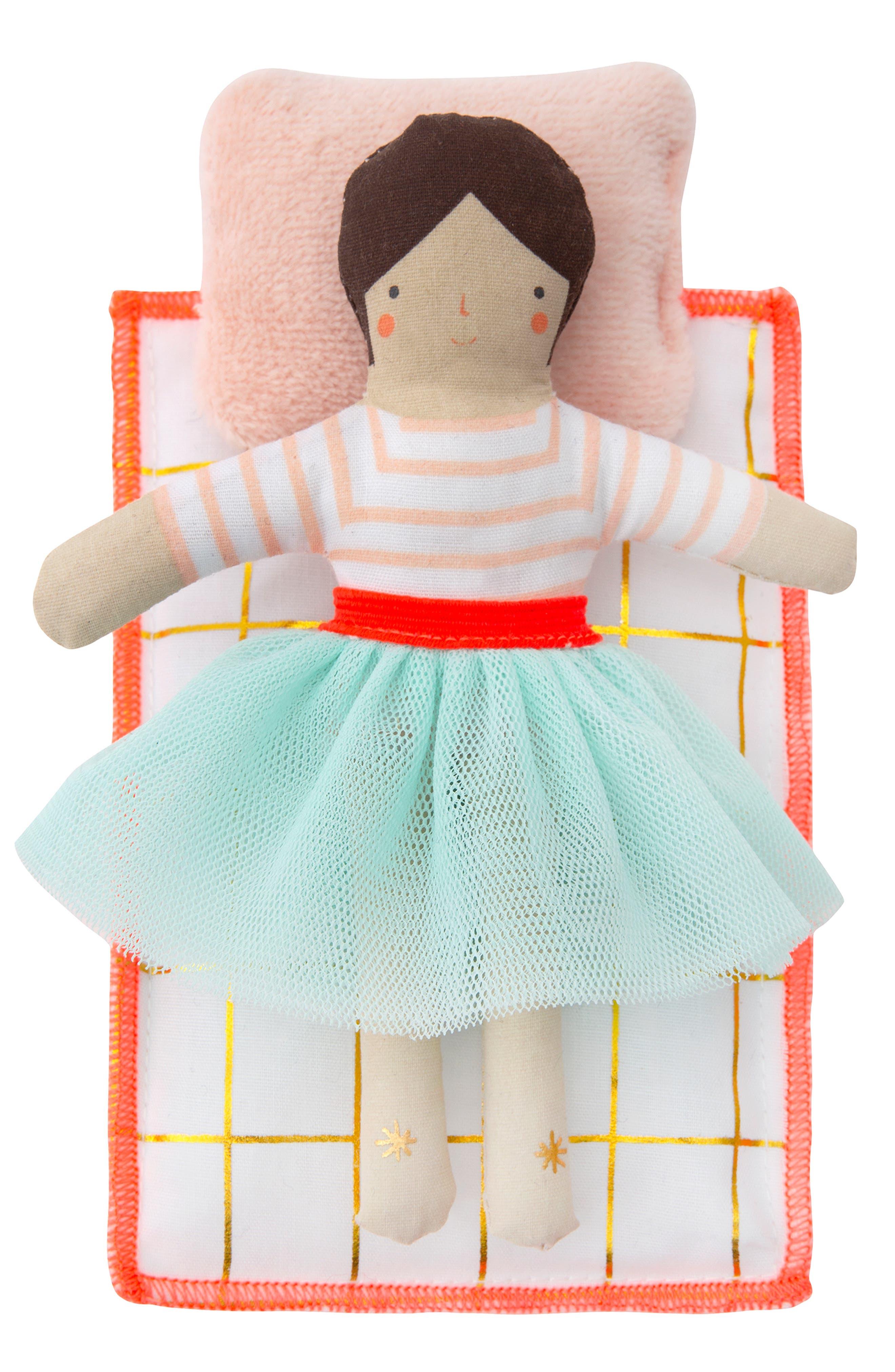 MERI MERI, Mini Lila Doll & Suitcase Set, Alternate thumbnail 3, color, 960