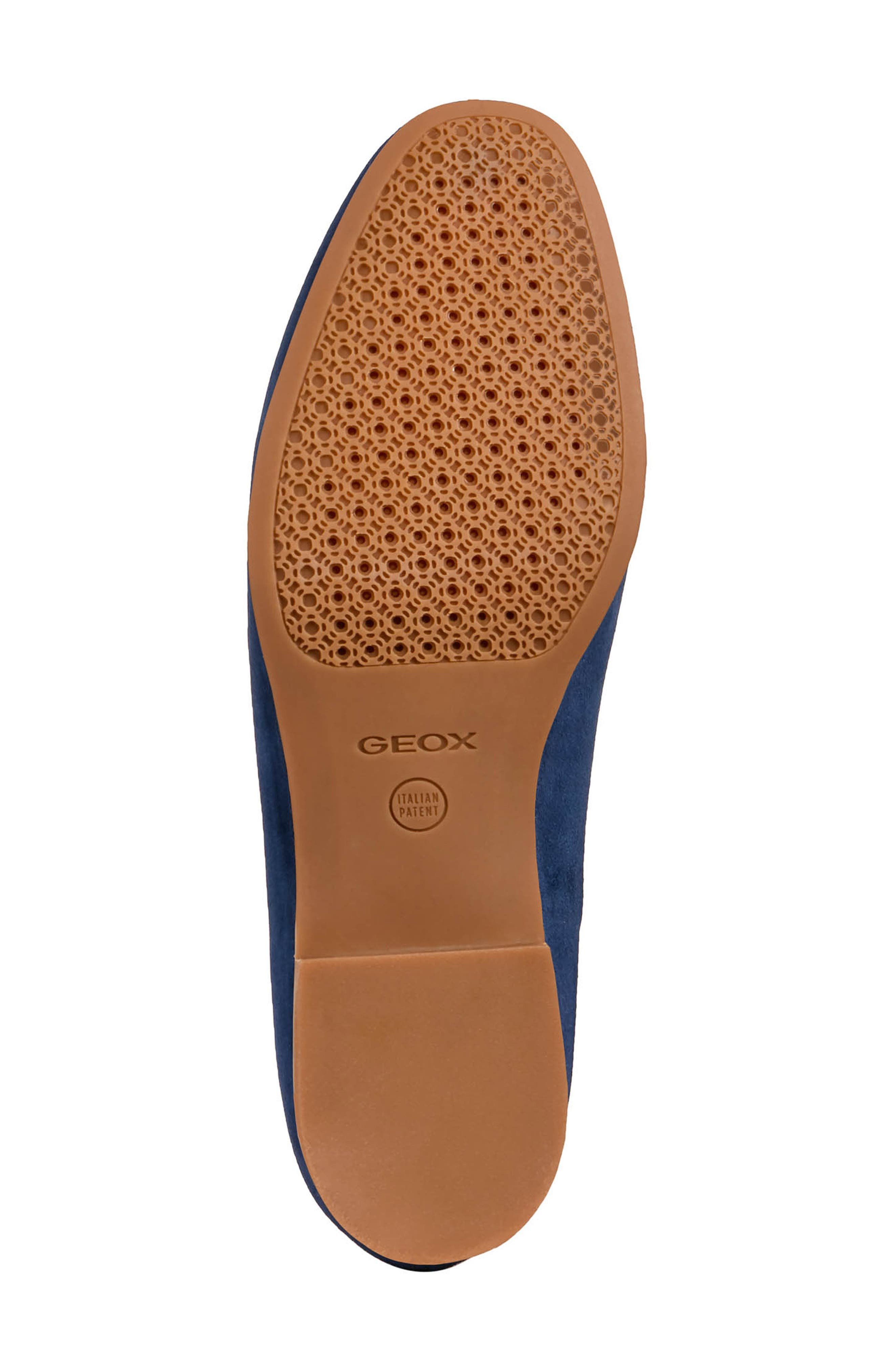 GEOX, Marlyna Loafer, Alternate thumbnail 6, color, BLUE SUEDE