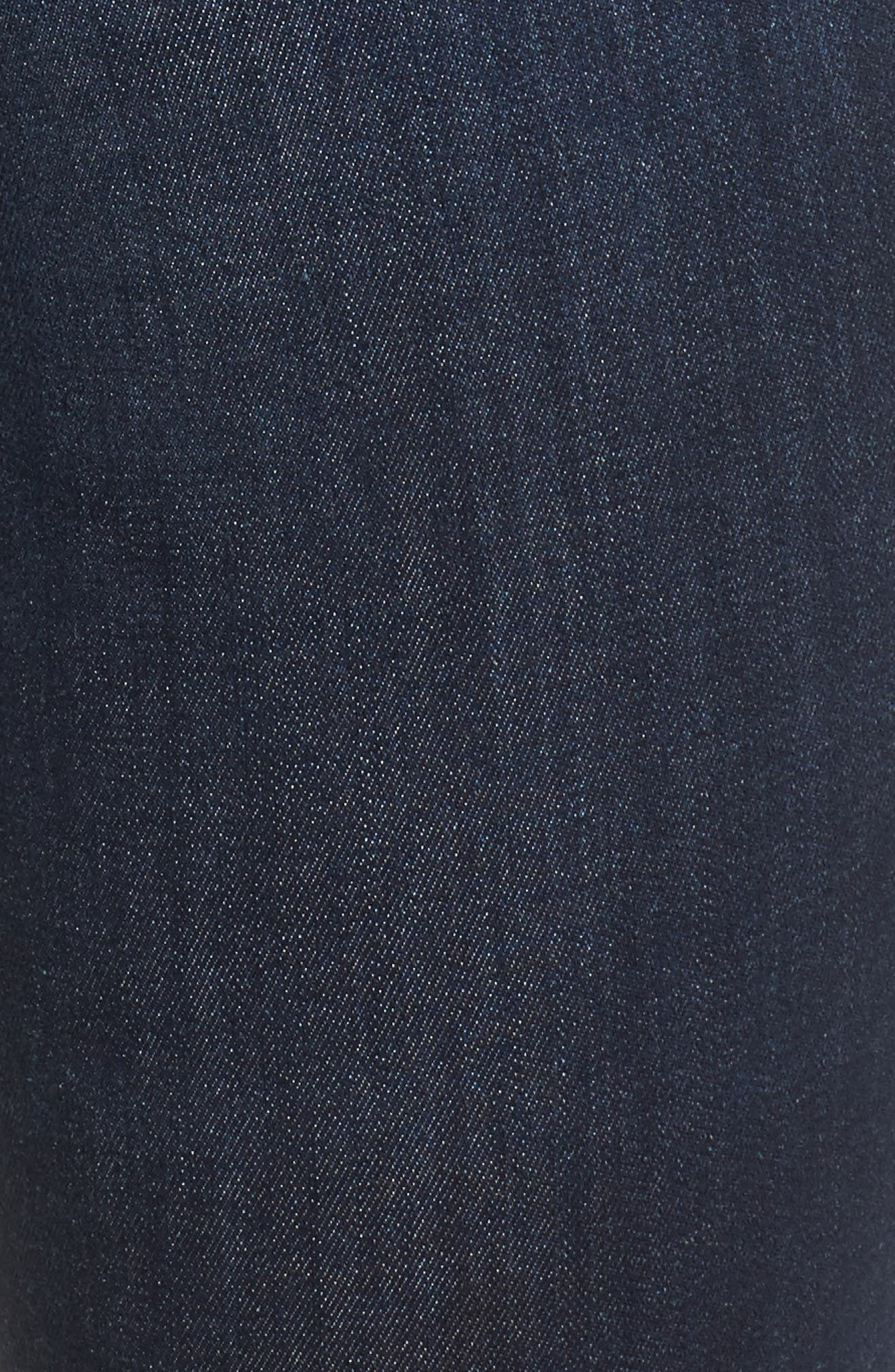 MADEWELL, 9-Inch High Rise Skinny Jeans, Alternate thumbnail 7, color, LARKSPUR
