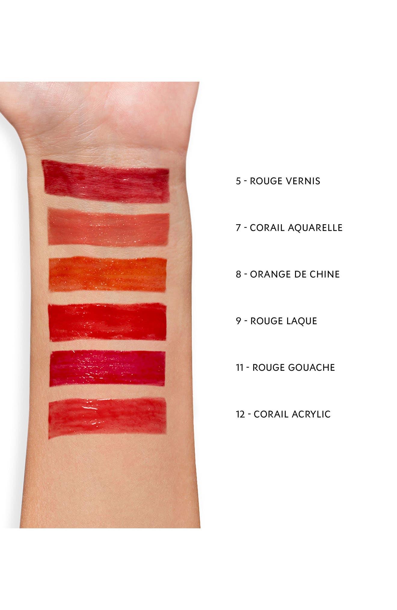 YVES SAINT LAURENT, Glossy Stain Lip Color, Alternate thumbnail 3, color, 07 CORAIL AQUATIQUE