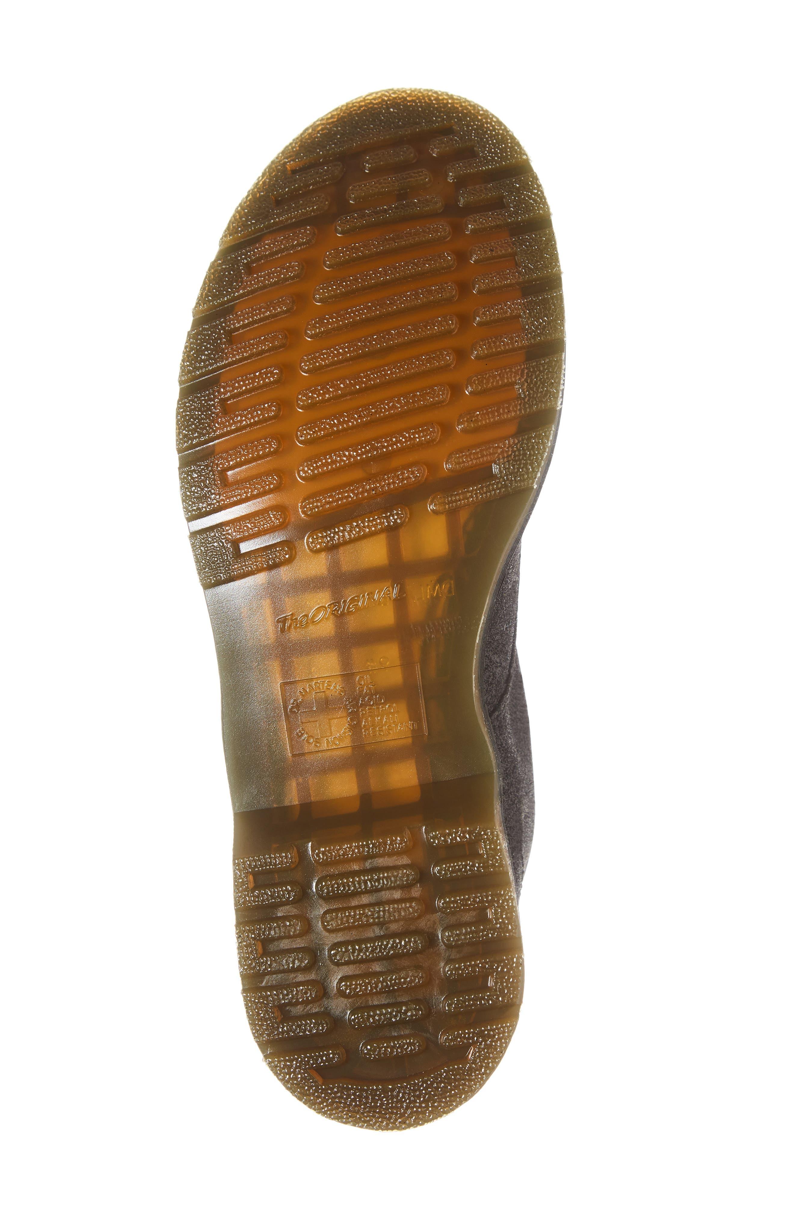 DR. MARTENS, 1460 Pascal Glitter Boot, Alternate thumbnail 6, color, BLACK