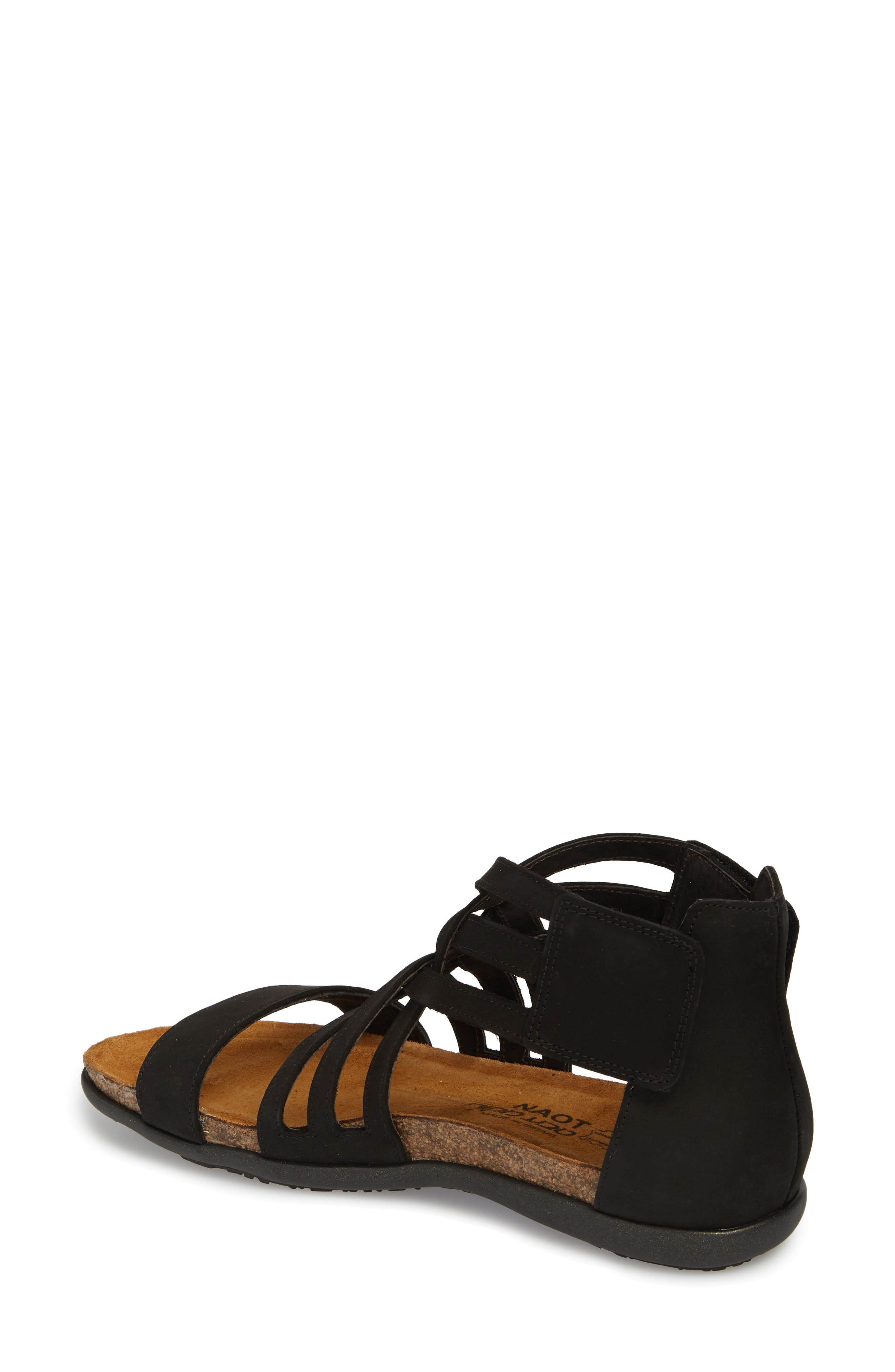 NAOT, Marita Sandal, Alternate thumbnail 2, color, BLACK VELVET NUBUCK