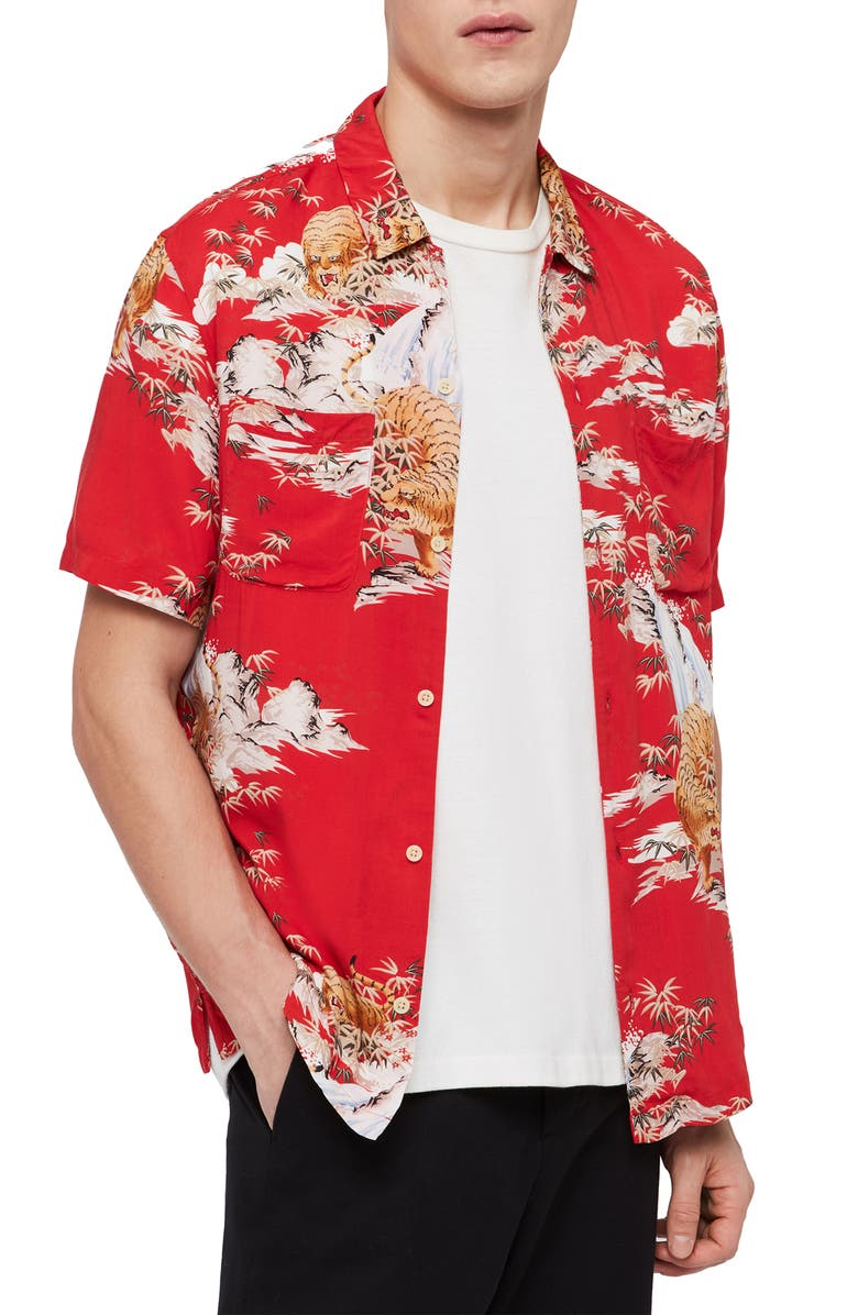 Allsaints T-shirts INDO REGULAR FIT SHORT SLEEVE SPORT SHIRT