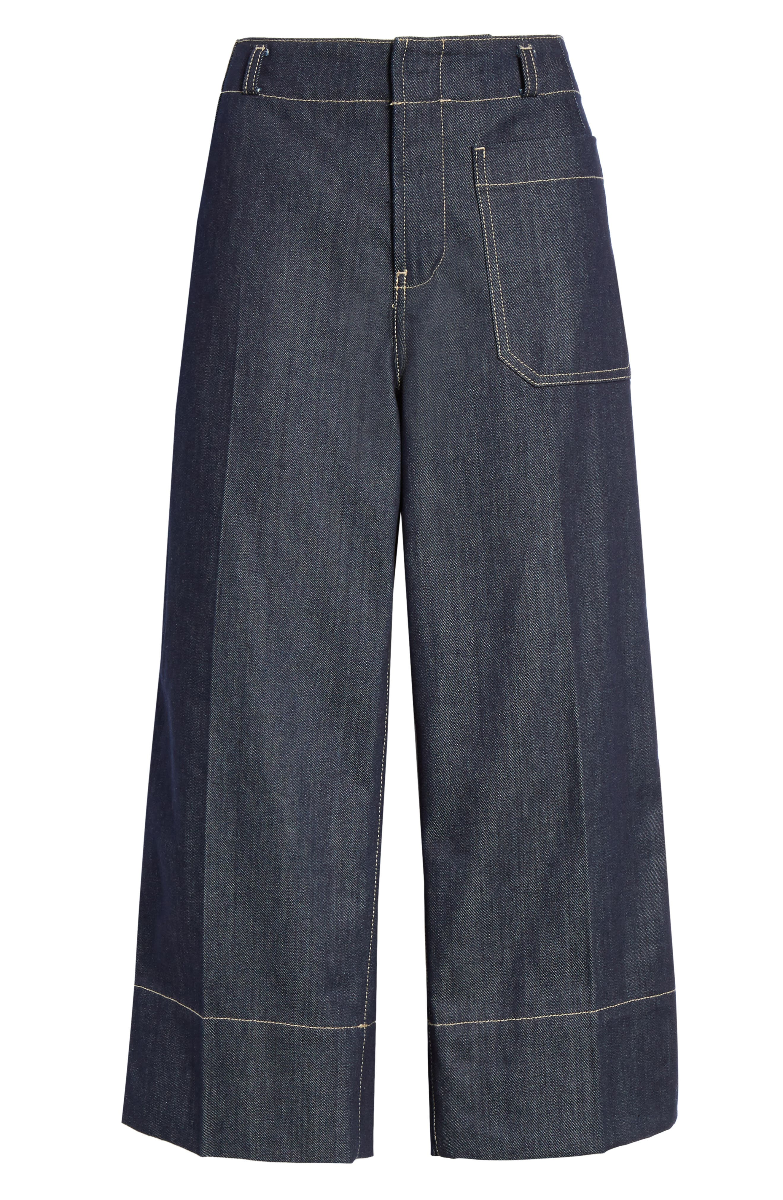 SOFIE D'HOORE, Wide Leg Crop Jeans, Alternate thumbnail 6, color, RAW