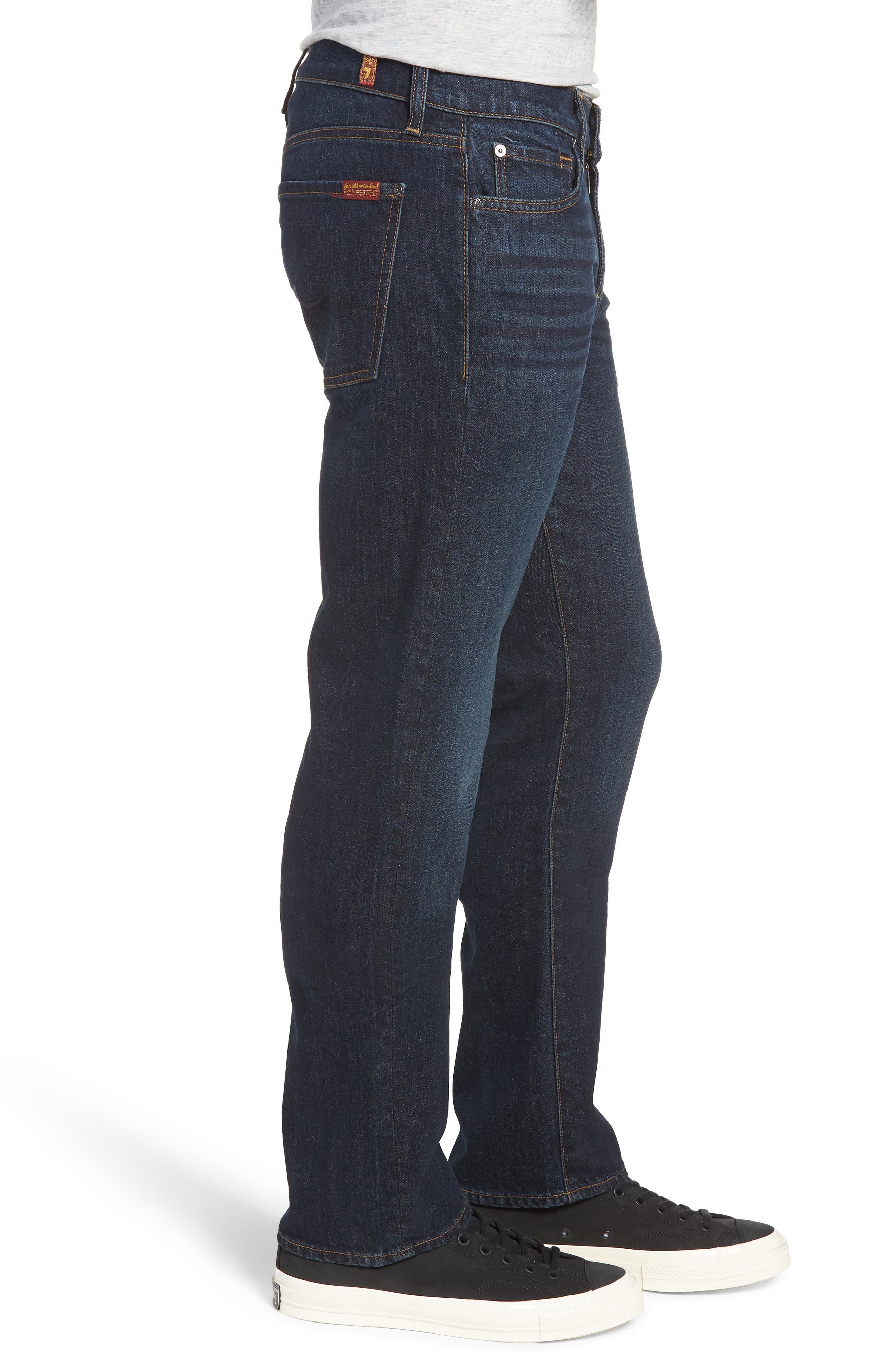 7 FOR ALL MANKIND<SUP>®</SUP>, Standard Straight Leg Jeans, Alternate thumbnail 4, color, ABERDEEN