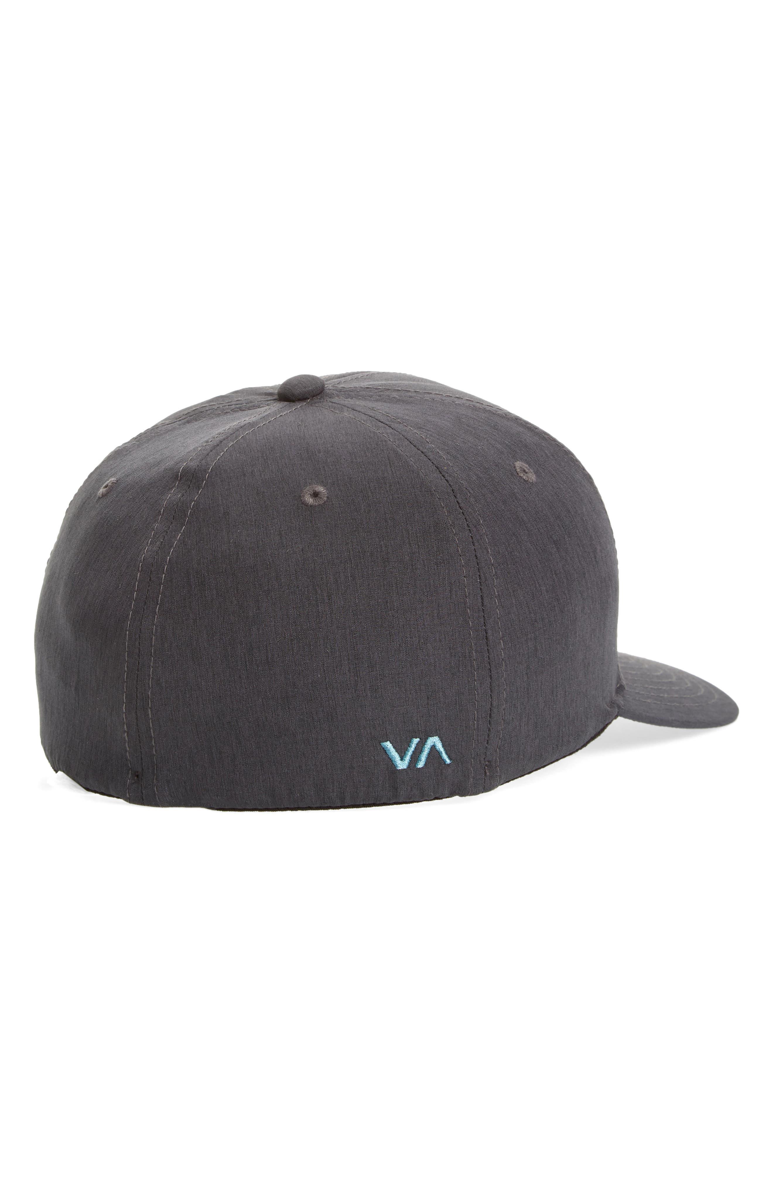 RVCA, Flex Fit Baseball Cap, Alternate thumbnail 2, color, CHARCOAL HEATHER