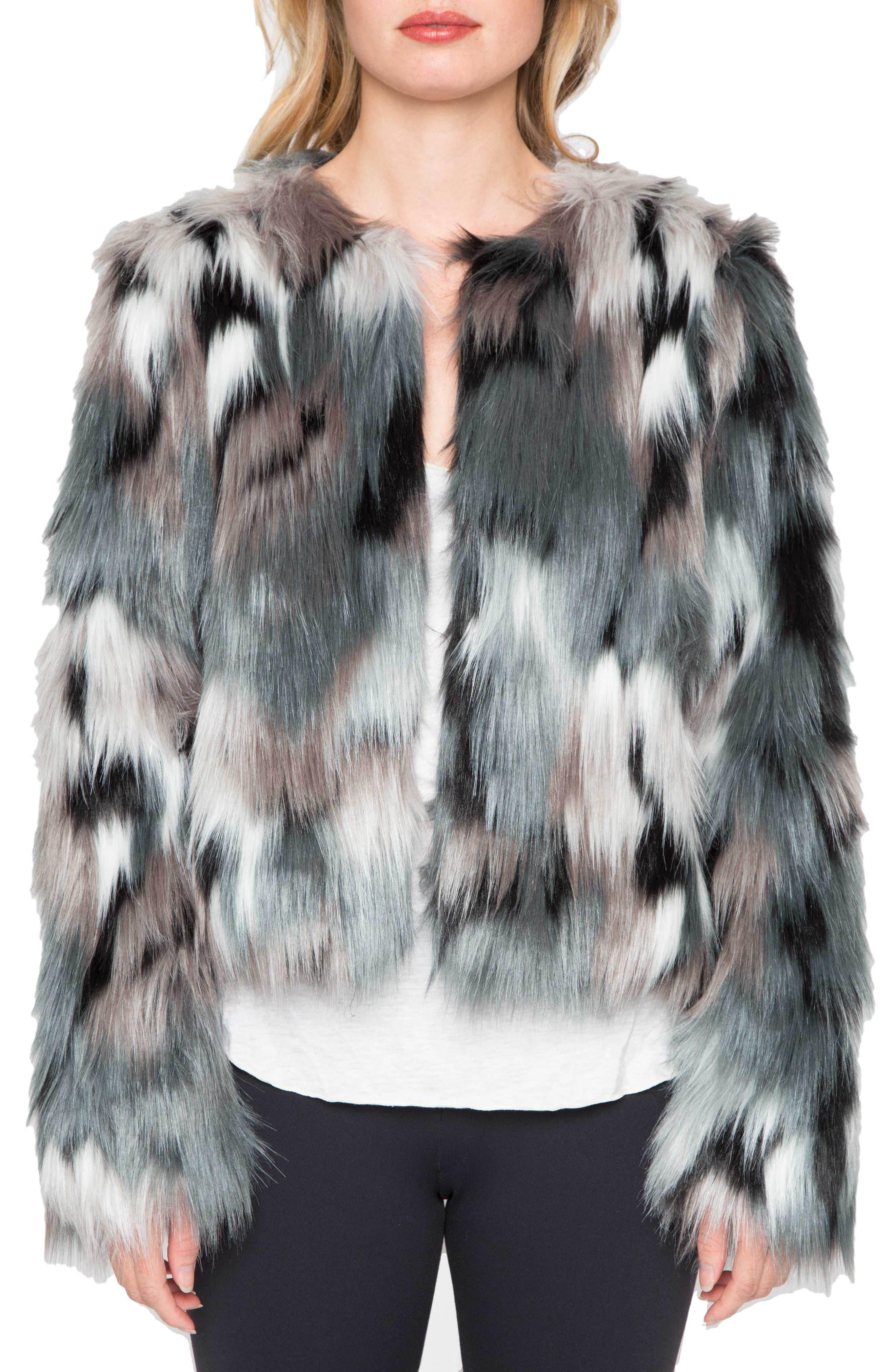 WILLOW & CLAY Faux Fur Jacket, Main, color, 445