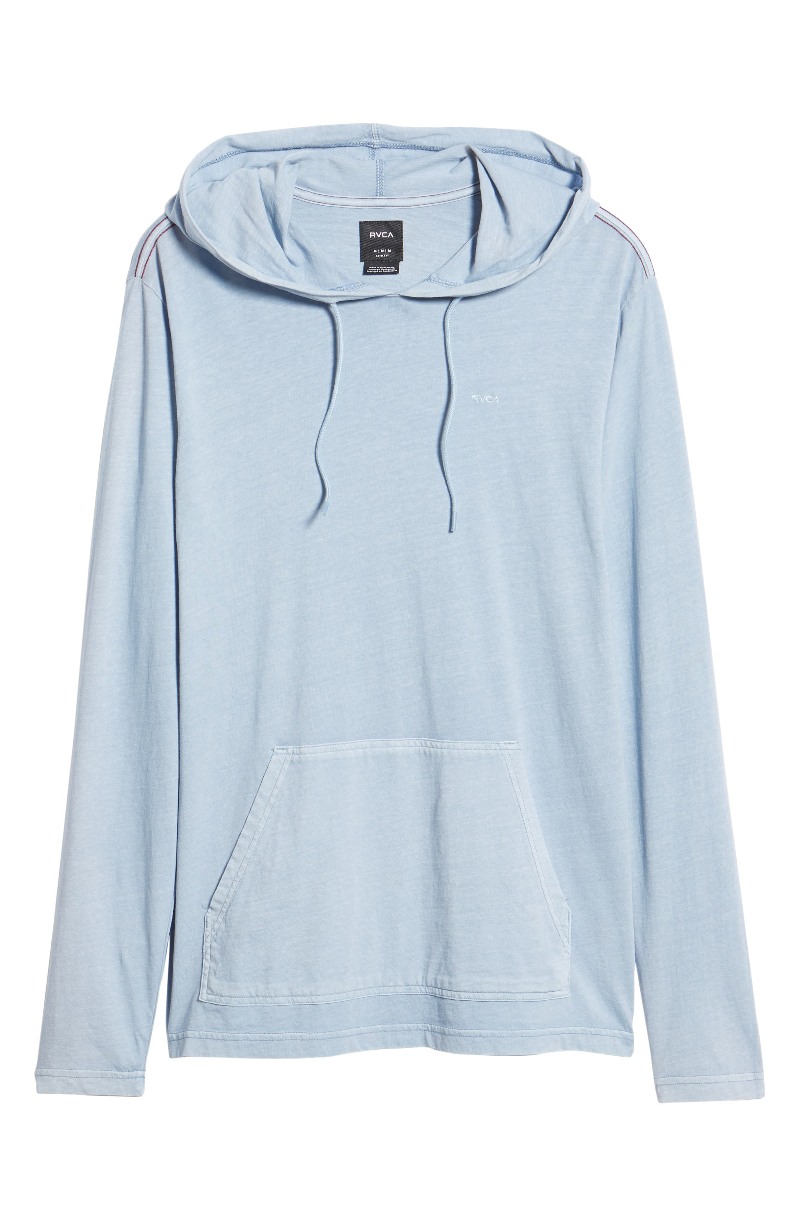 RVCA, PTC Cotton Hoodie, Alternate thumbnail 6, color, DUSTY BLUE
