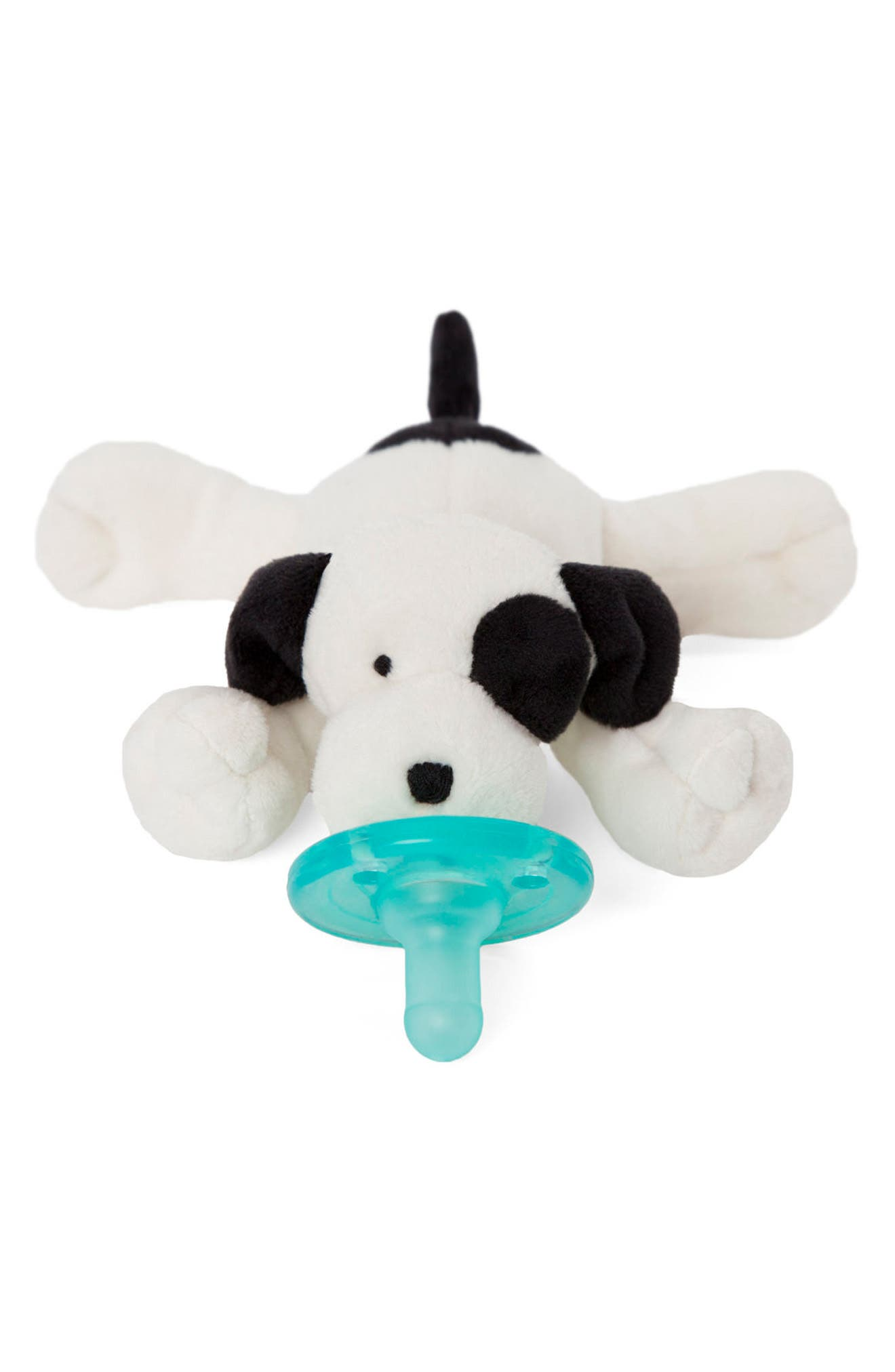 WUBBANUB<SUP>™</SUP>, Puppy Pacifier Toy, Main thumbnail 1, color, IVORY/ BLACK